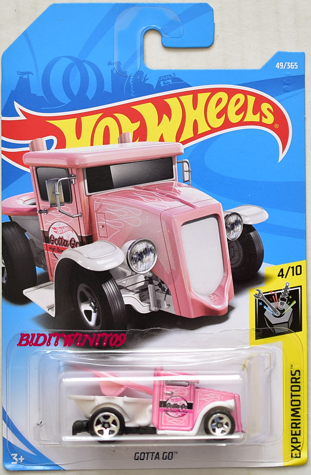 HOT WHEELS 2018 EXPERIMOTORS GOTTA GO #4/10 PINK