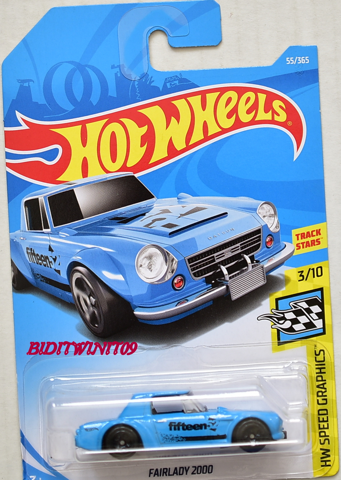 HOT WHEELS 2018 HW SPEED GRAPHICS FAIRLADY 2000 #3/10 BLUE