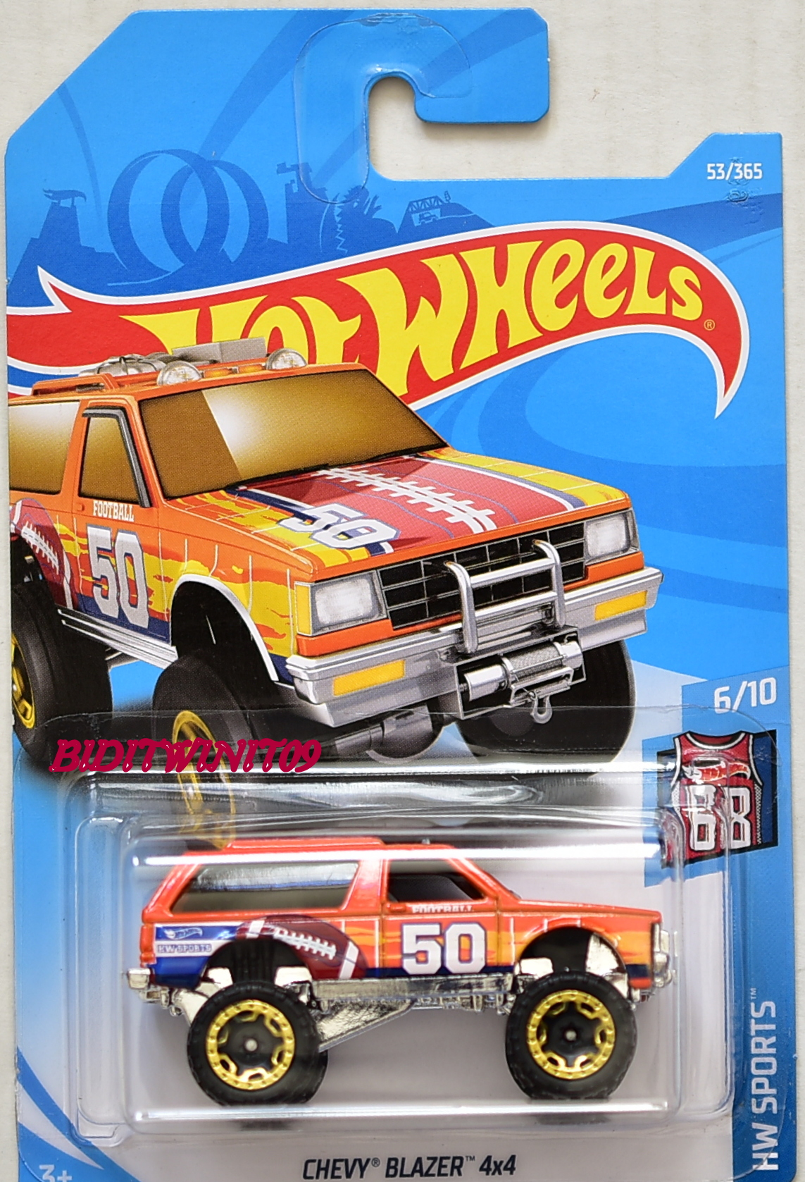 HOT WHEELS 2018 HW SPORTS CHEVY BLAZER 4X4 #6/10