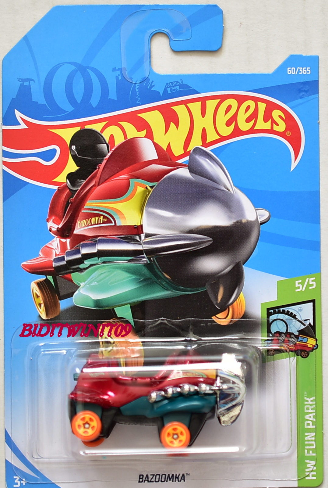 HOT WHEELS 2018 HW FUN PARK BAZOOMKA