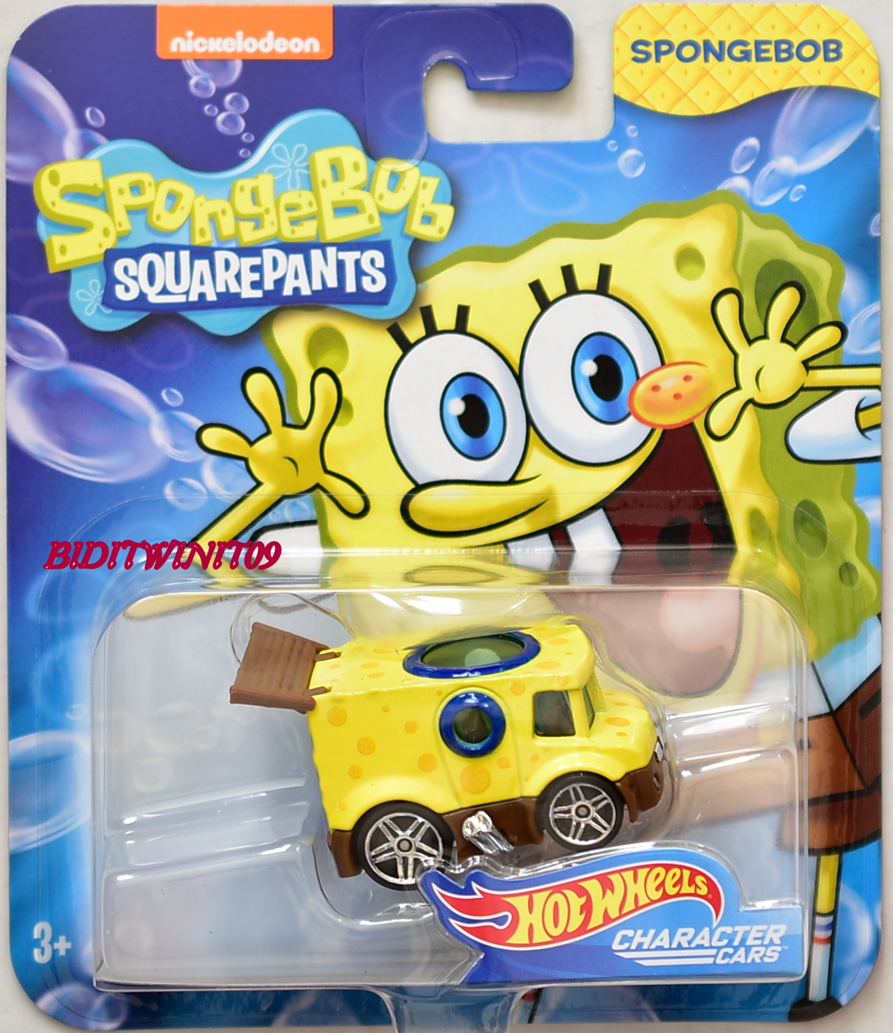 HOT WHEELS SPONGEBOB SQUAREPANTS CHARACTER CARS YELLOW