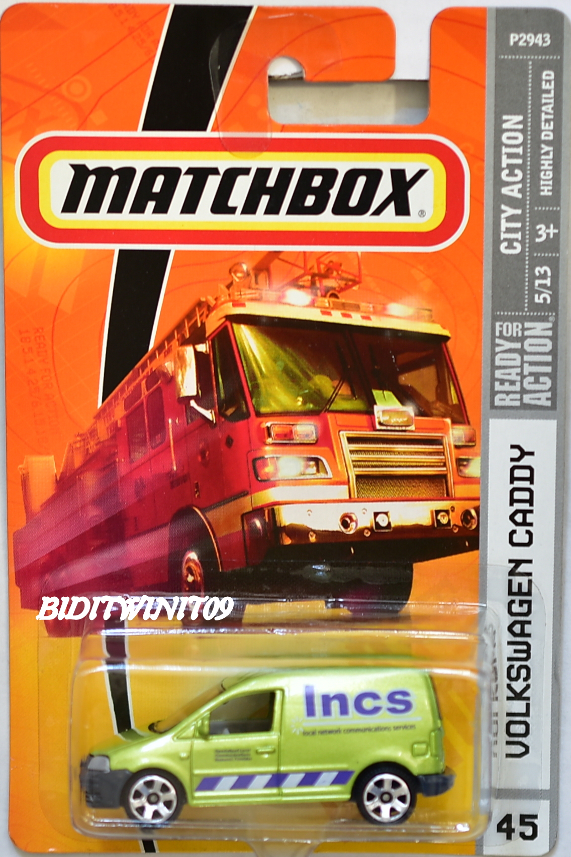 MATCHBOX 2009 CITY ACTION VOLKSWAGEN CADDY #45