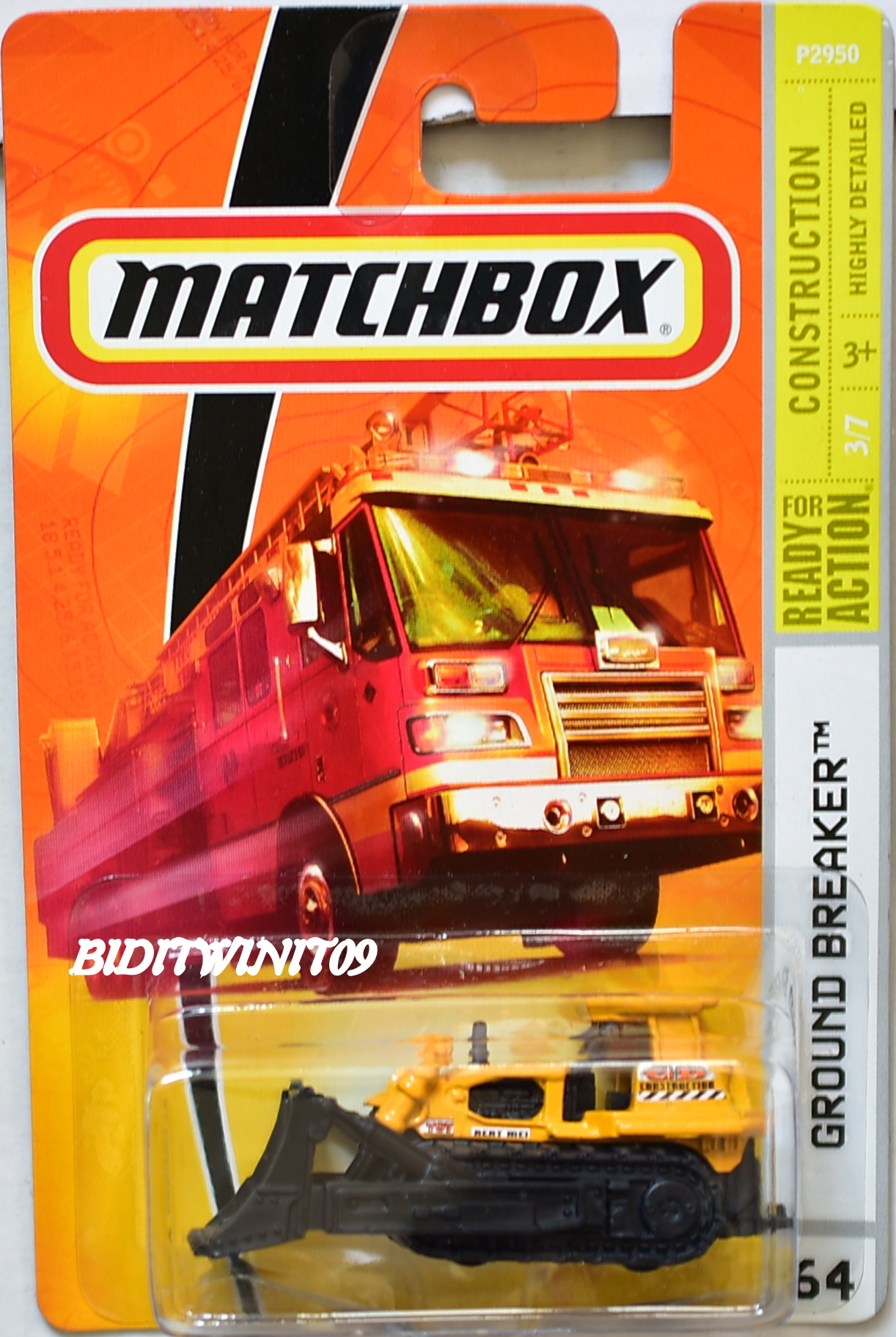 MATCHBOX 2009 CONSTRUCTION GROUND BREAKER #64 E+