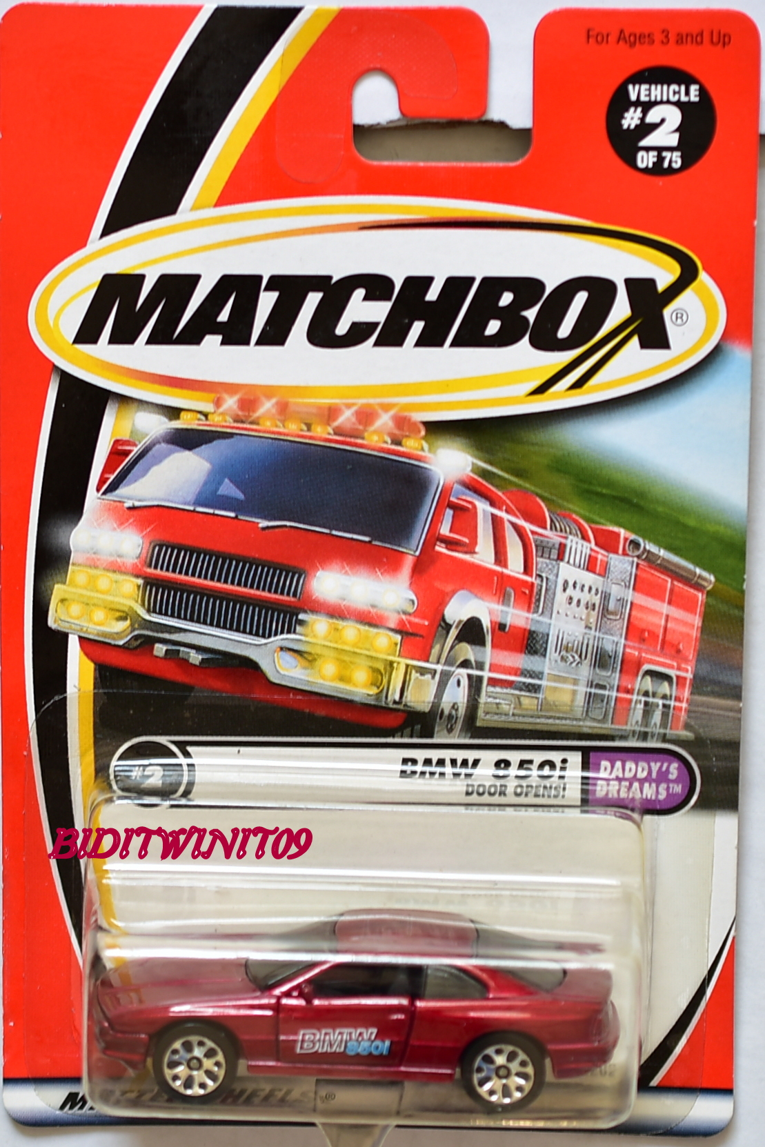 MATCHBOX 2001 DADDY'S DREAMS BMW 850I DOOR OPENS #2 E+