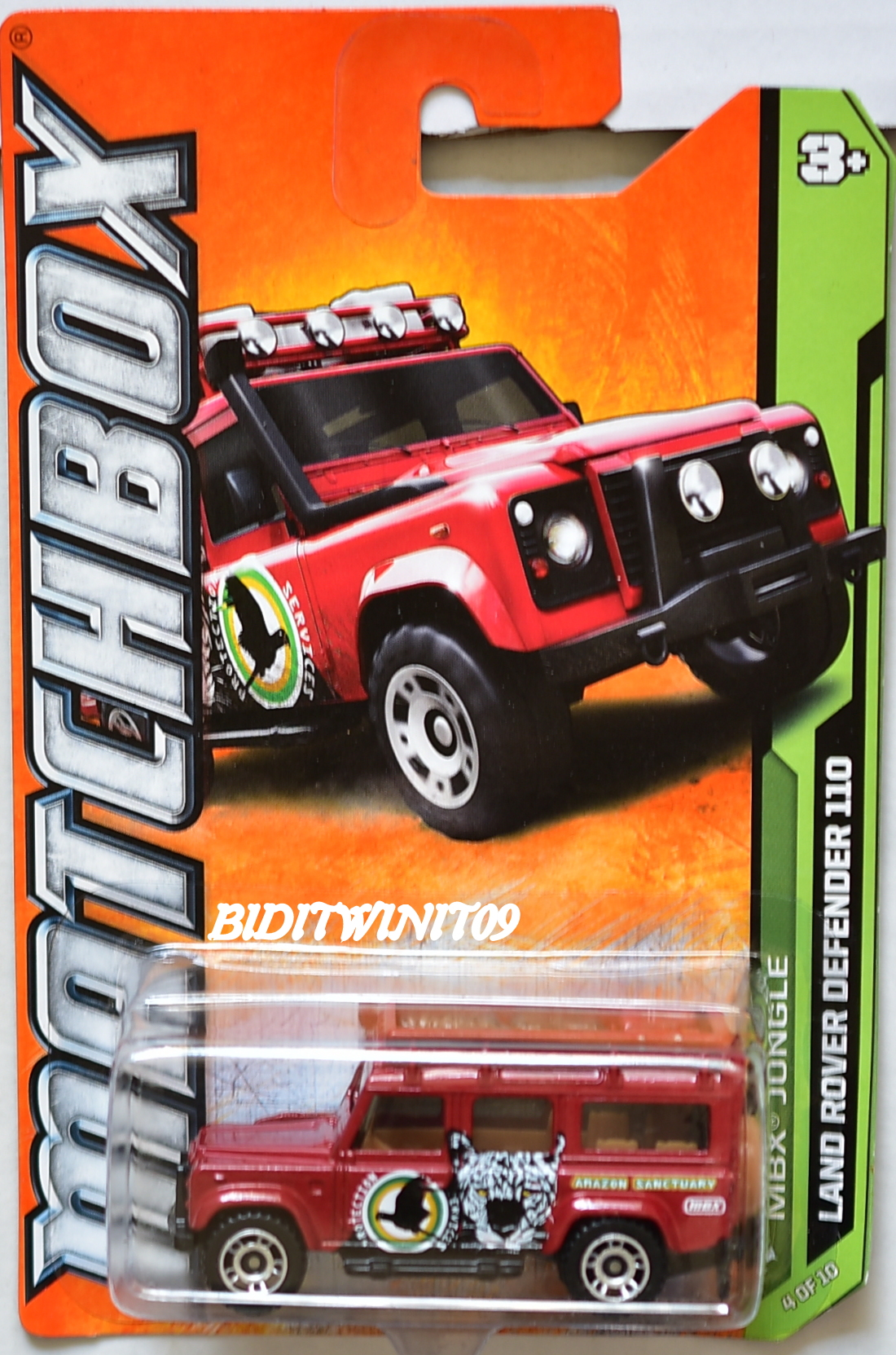MATCHBOX MBX JUNGLE LAND ROVER DEFENDER 110 RED