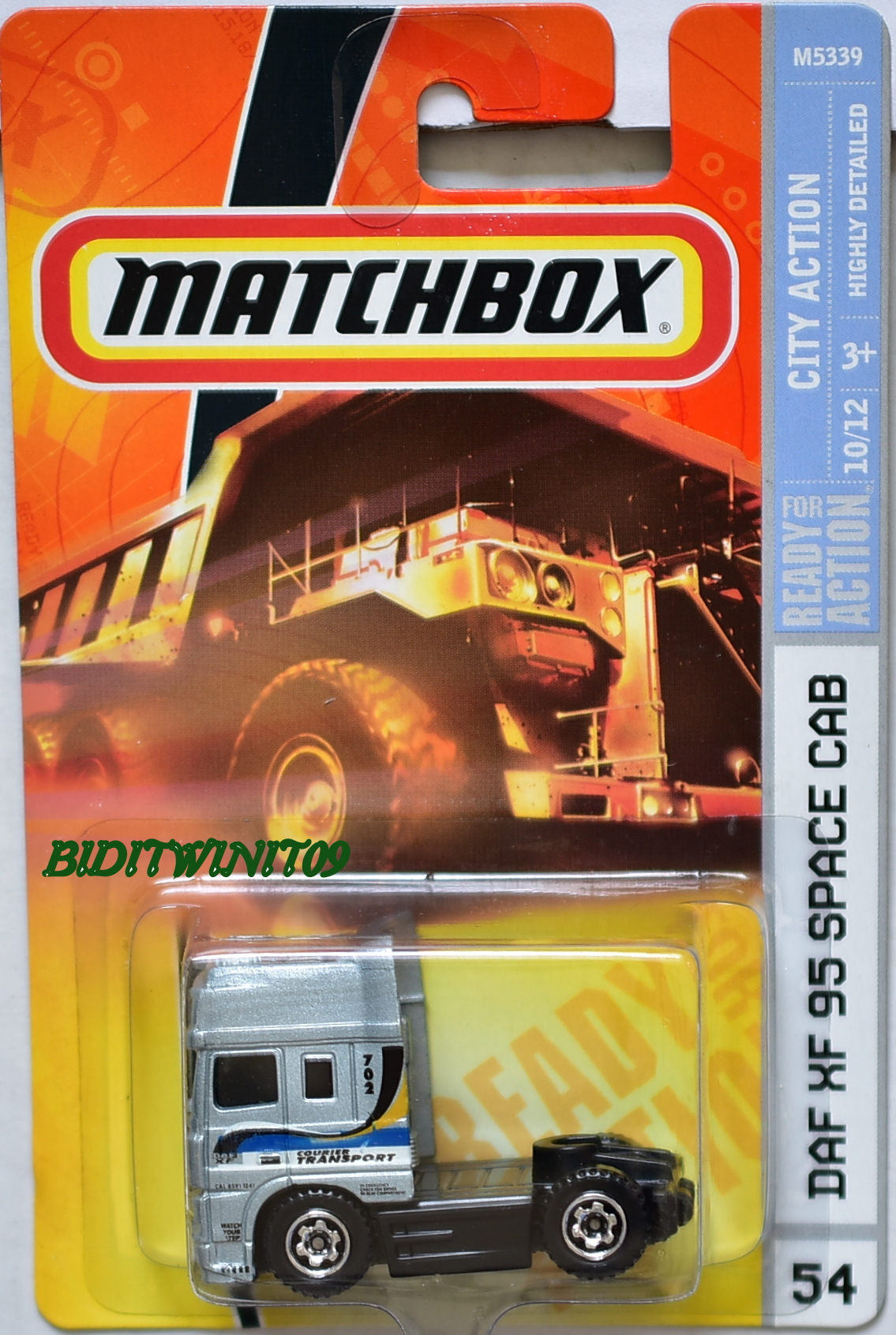 MATCHBOX 2008 CITY ACTION DAF XF 95 SPACE CAB #54 E+
