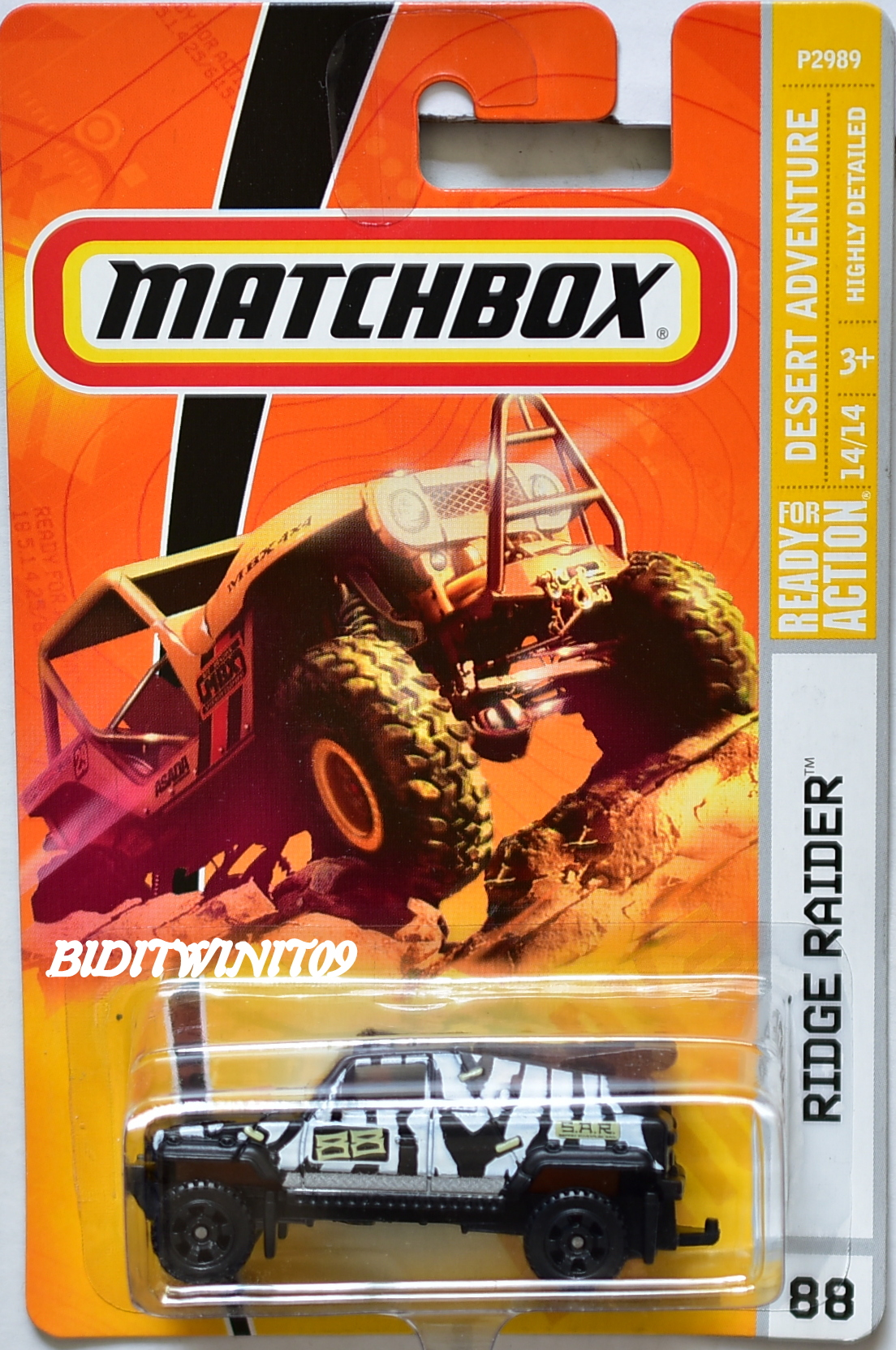 MATCHBOX 2008 DESERT ADVENTURE RIDGE RAIDER BLACK #88