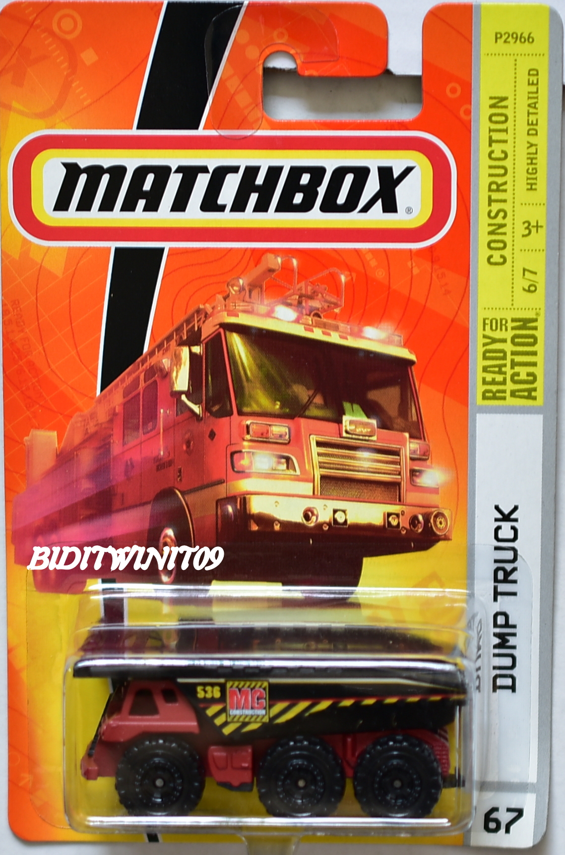 MATCHBOX 2009 CONSTRUCTION DUMP TRUCK #67 E+