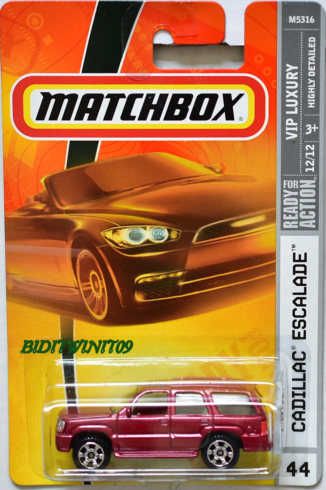 MATCHBOX 2009 VIP LUXURY CADILLAC ESCALADE #44 RED E+