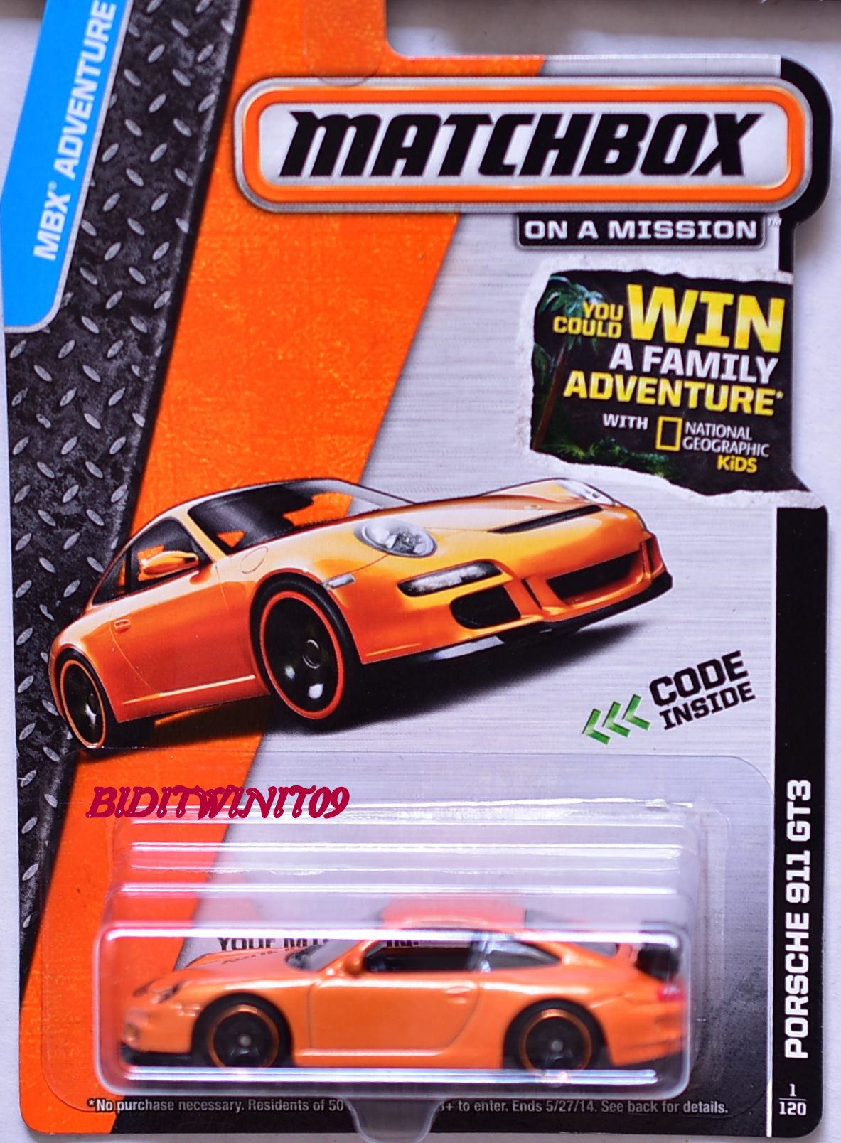 MATCHBOX 2013 ON A MISSION PORSCHE 911 GT3 E+