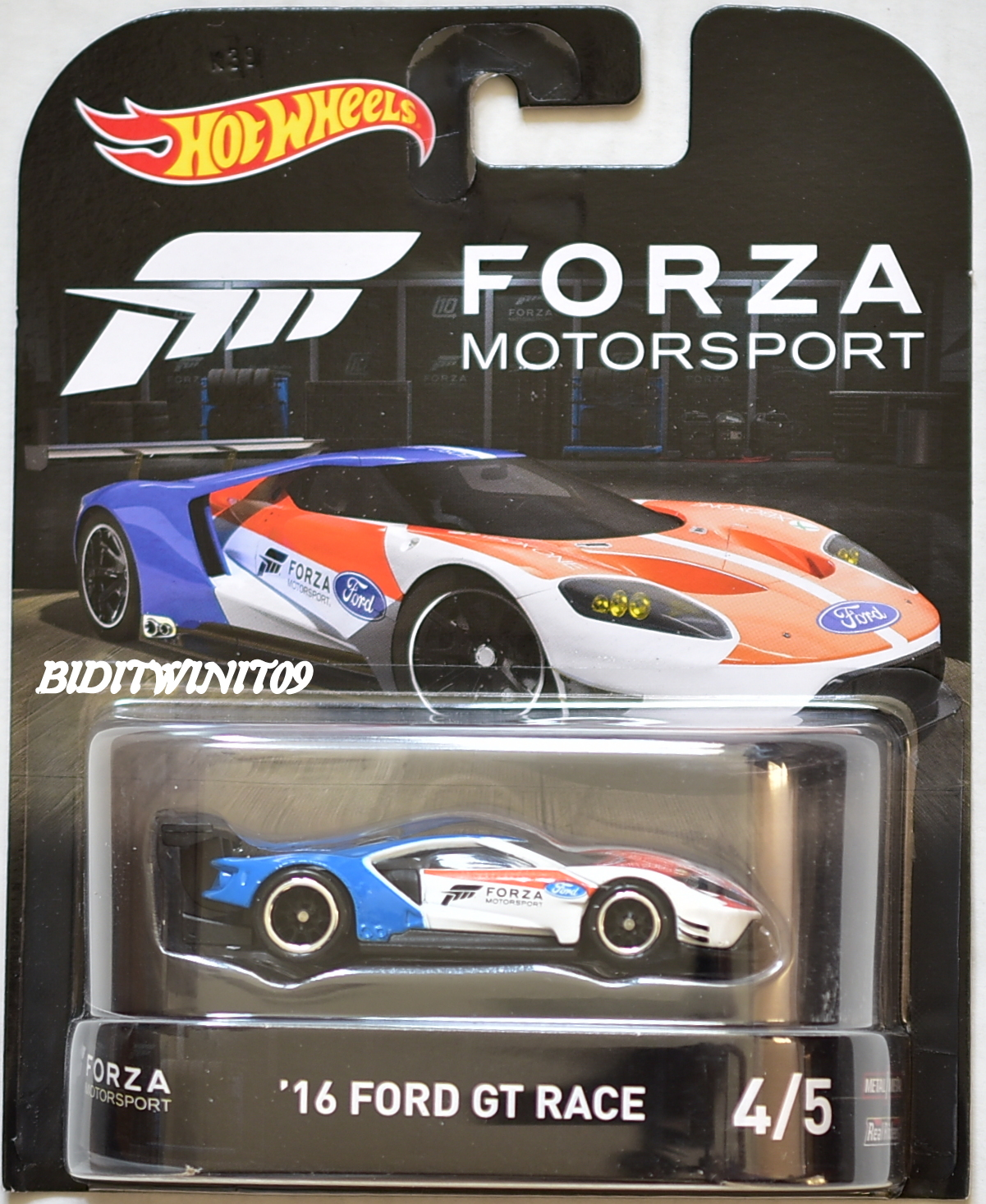 HOT WHEELS 2017 RETRO ENTERTAINMENT FORZA MOTORSPORT '16 FORD GT RACE #4/5