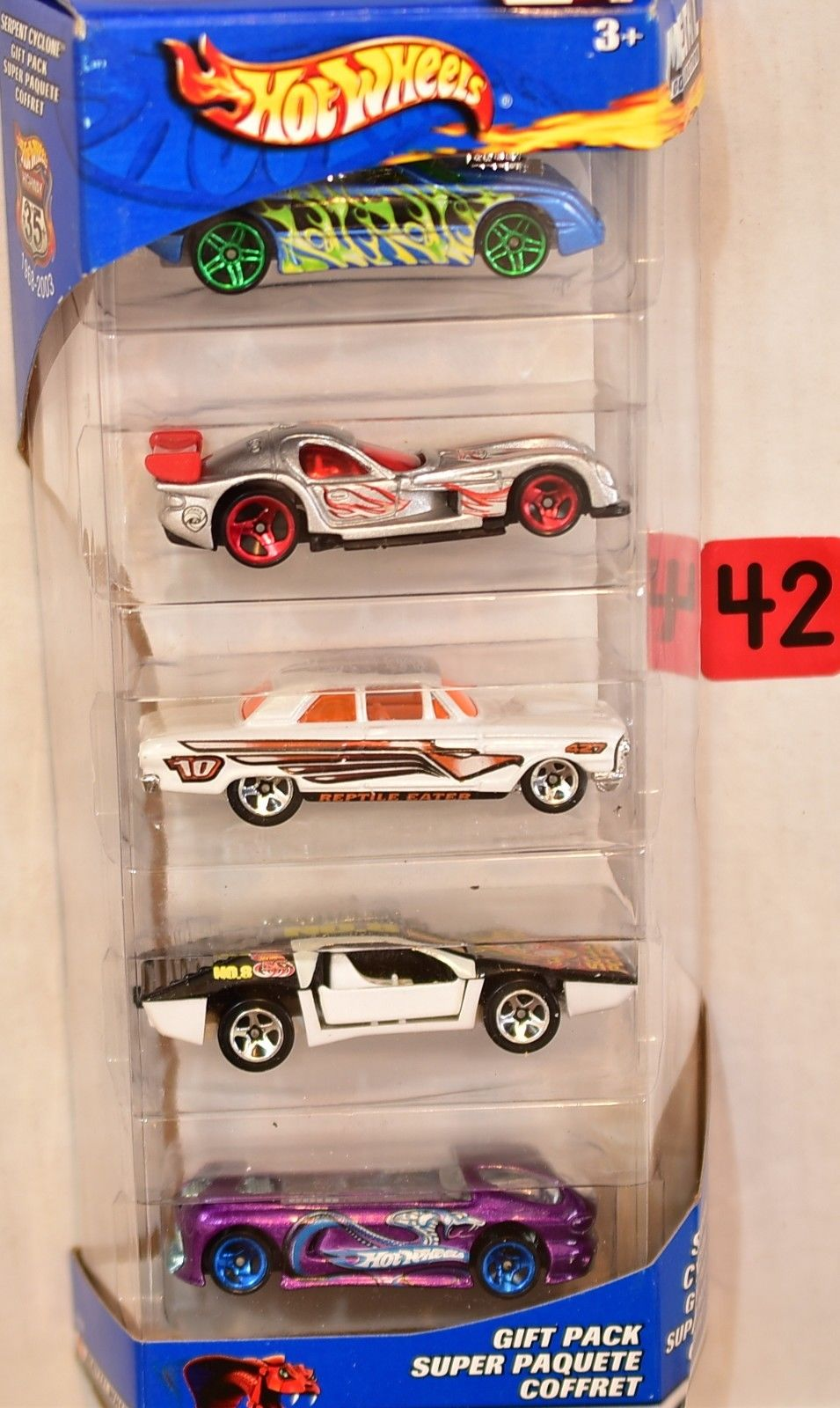 HOT WHEELS 2002 5 CAR GIFT PACK SIDE KICK PANOZ DEORA FORD