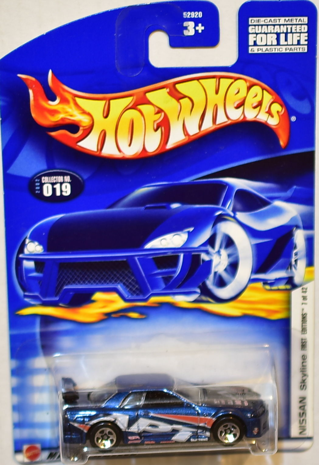 HOT WHEELS 2002 NISSAN SKYLINE FIRST EDITIONS #019