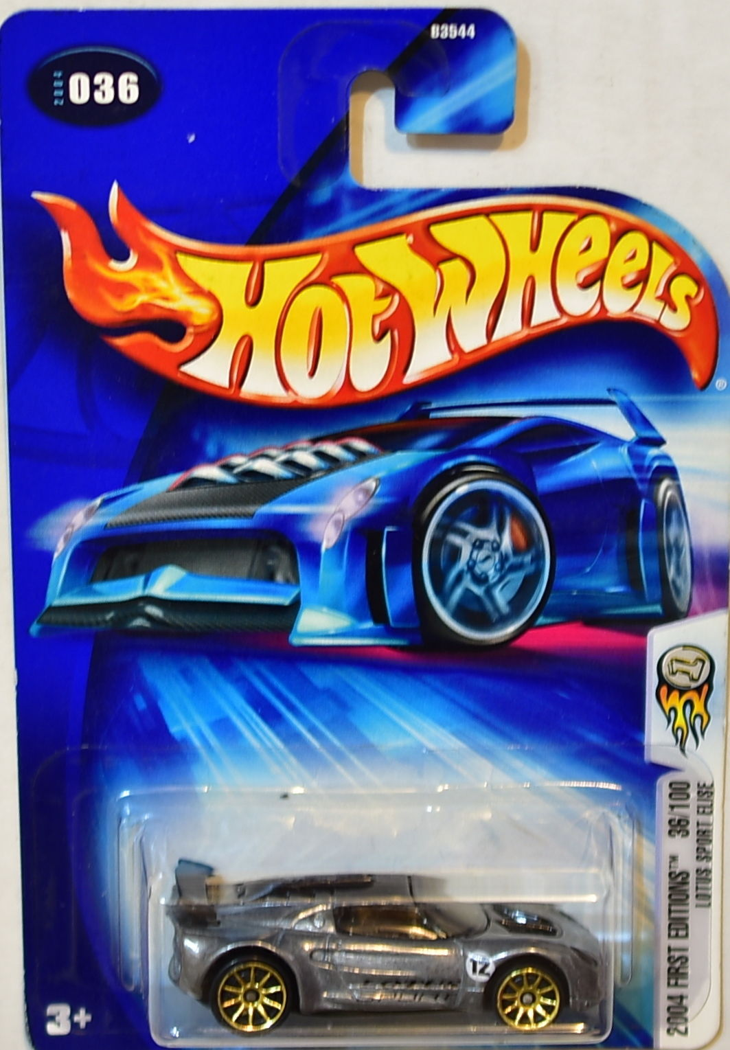 HOT WHEELS 2004 FIRST EDITIONS LOTUS SPORT ELISE #036 ZAMAC E+