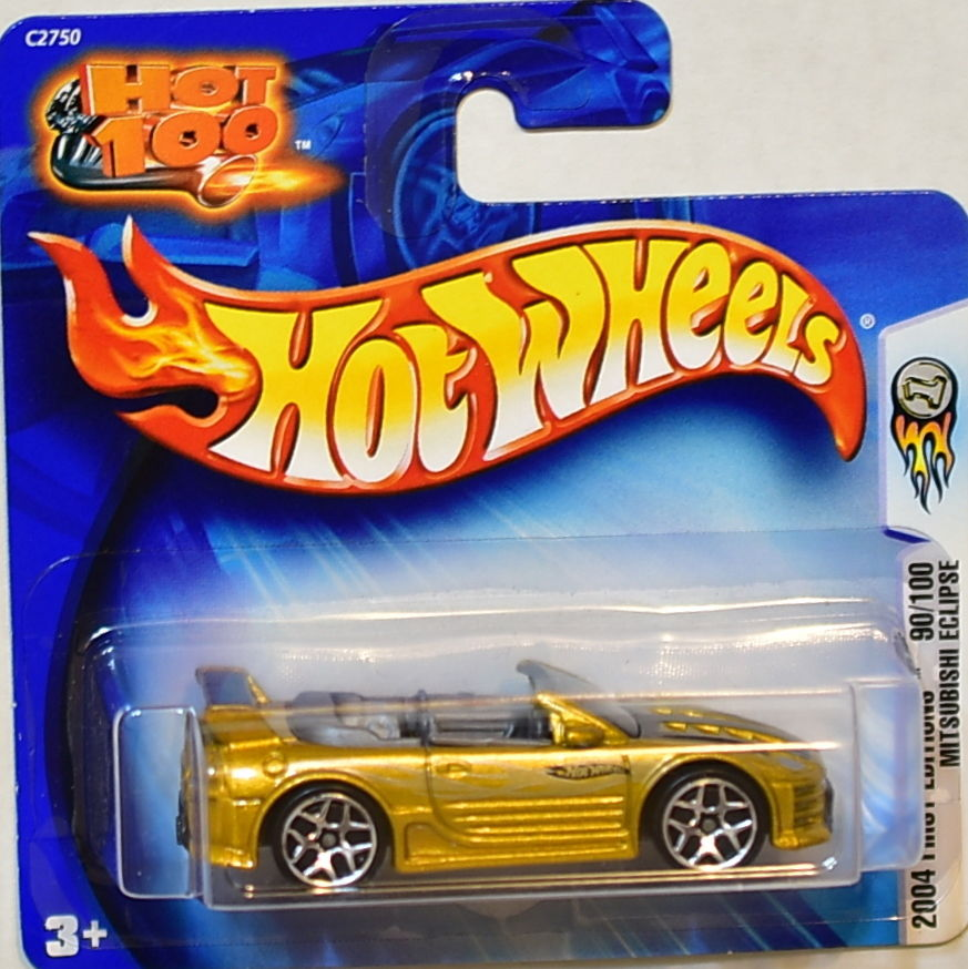 HOT WHEELS 2004 FIRST EDITIONS 90/100 MITSUBISHI ECLIPSE SHORT CARD