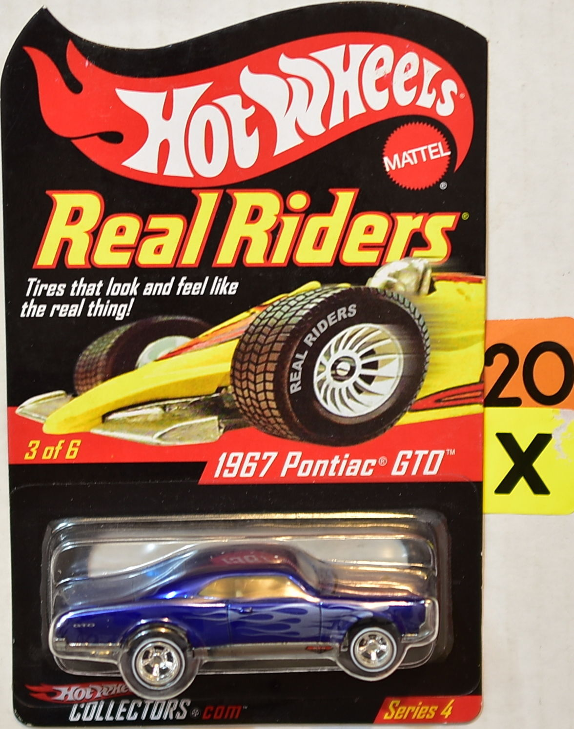 HOT WHEELS 2004 REAL RIDERS SERIES 4 1967 PONTIAC GTO #3/6 BLUE