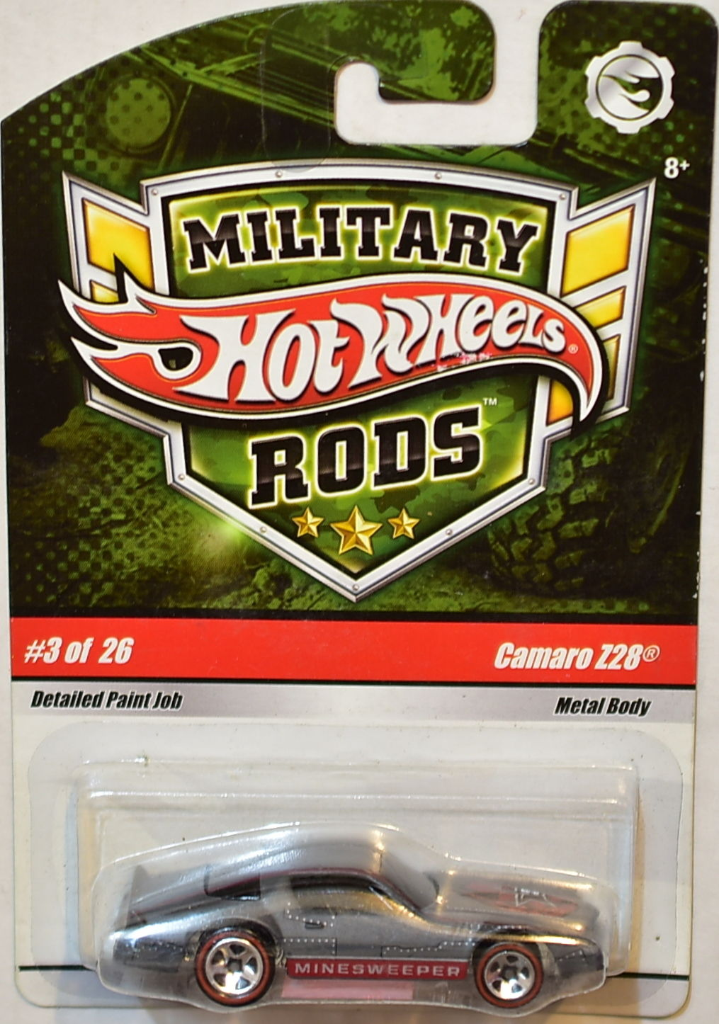 HOT WHEELS 2008 MILITARY RODS #2 of 26 CAMARO Z28