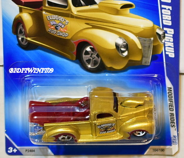 HOT WHEELS 2009 MODIFIED RIDES /'40 FORD PICKUP #08//10 RED