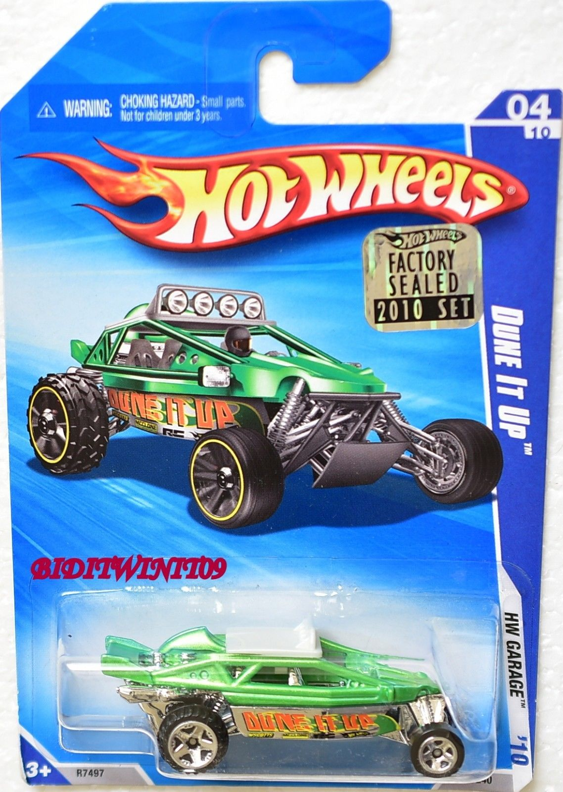 HOT WHEELS 2010 HW GARAGE DUNE IT UP #04/10 GREEN FACTORY SEALED