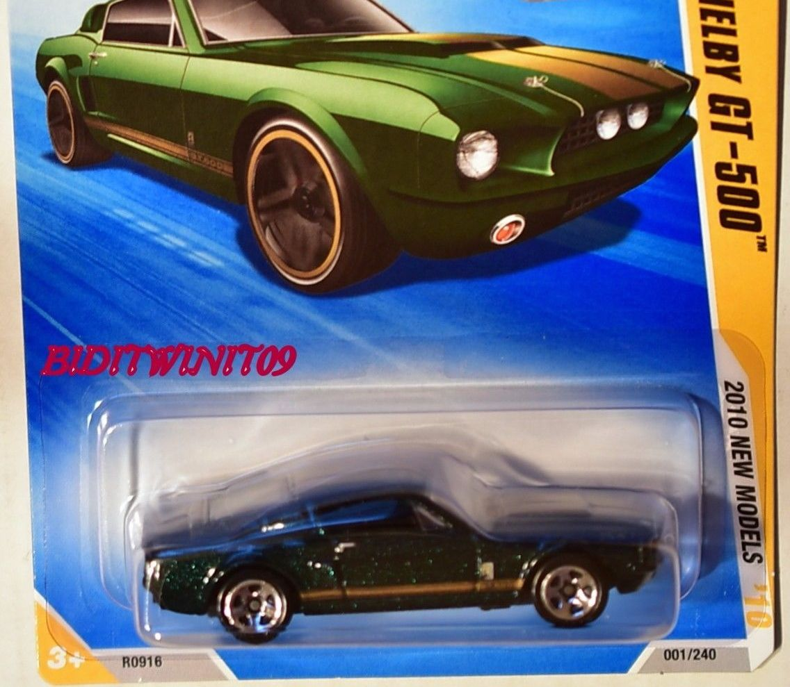 HOT WHEELS 2010 NEW MODELS '67 SHELBY GT-500 GREEN
