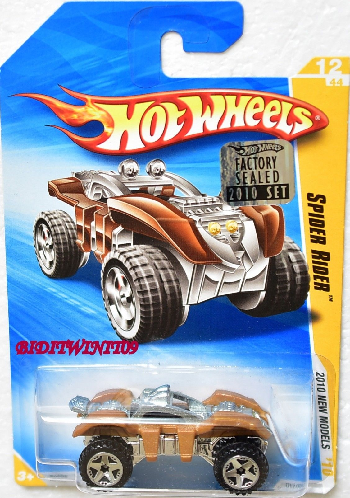 HOT WHEELS 2010 NEW MODELS SPIDER RIDER #12/44 FACTORY SEALED E+