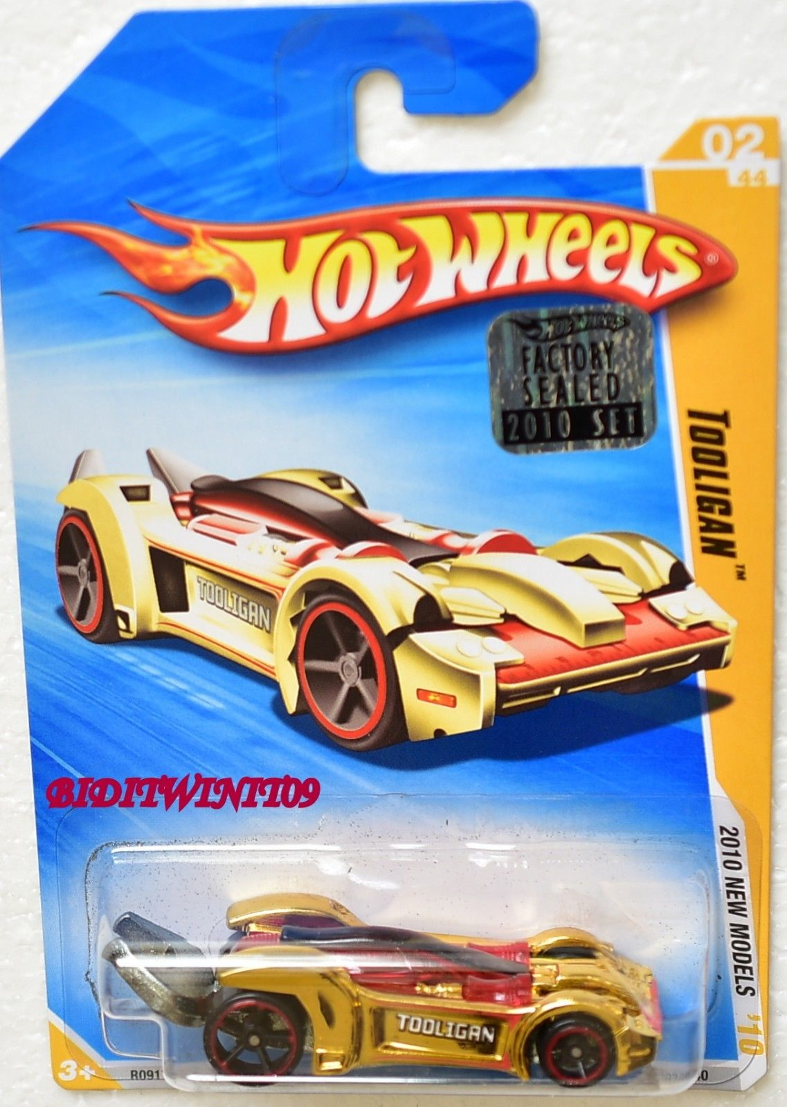 HOT WHEELS 2010 NEW MODELS TOOLIGAN #02/44 GOLD FACTORY SEALED