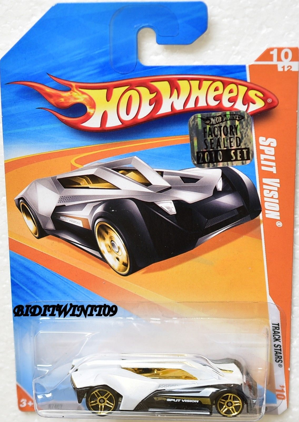 HOT WHEELS 2010 #10/12 SPLIT VISION - TRACK STARS FACTORY SEALED