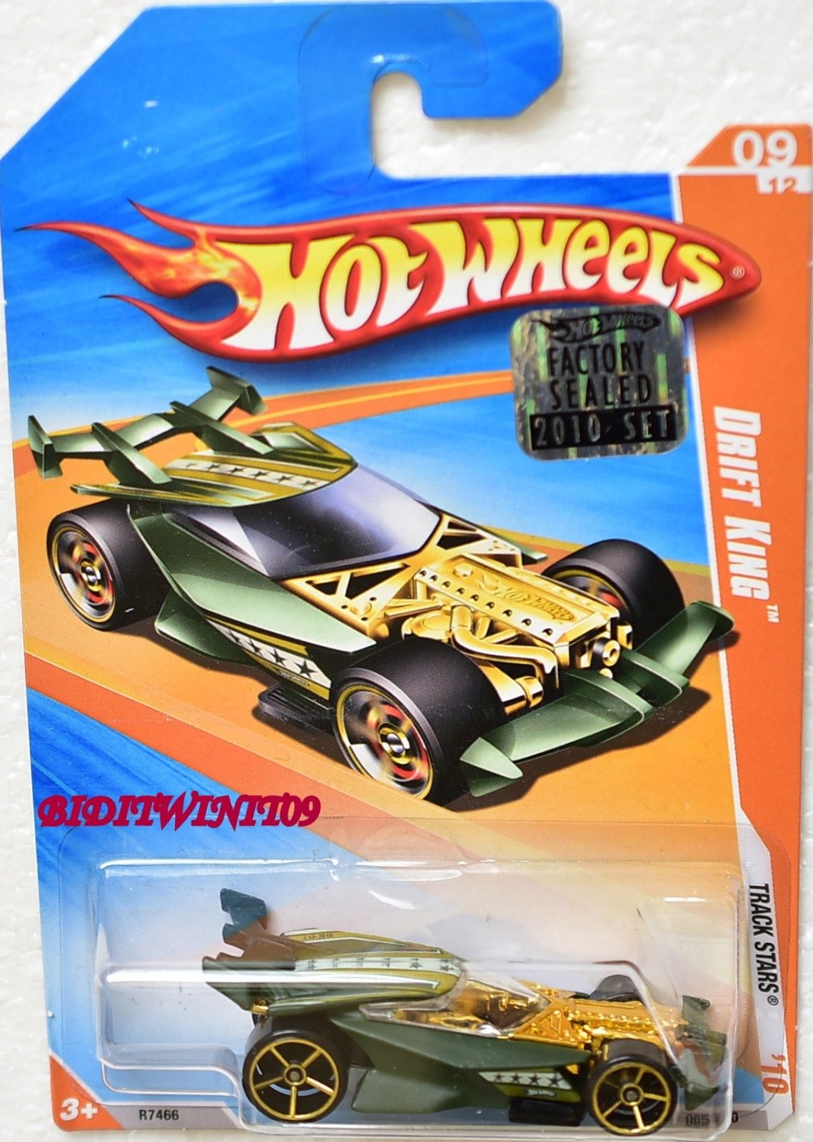 HOT WHEELS 2010 TRACK STARS DRIFT KING #09/12 FACTORY SEALED