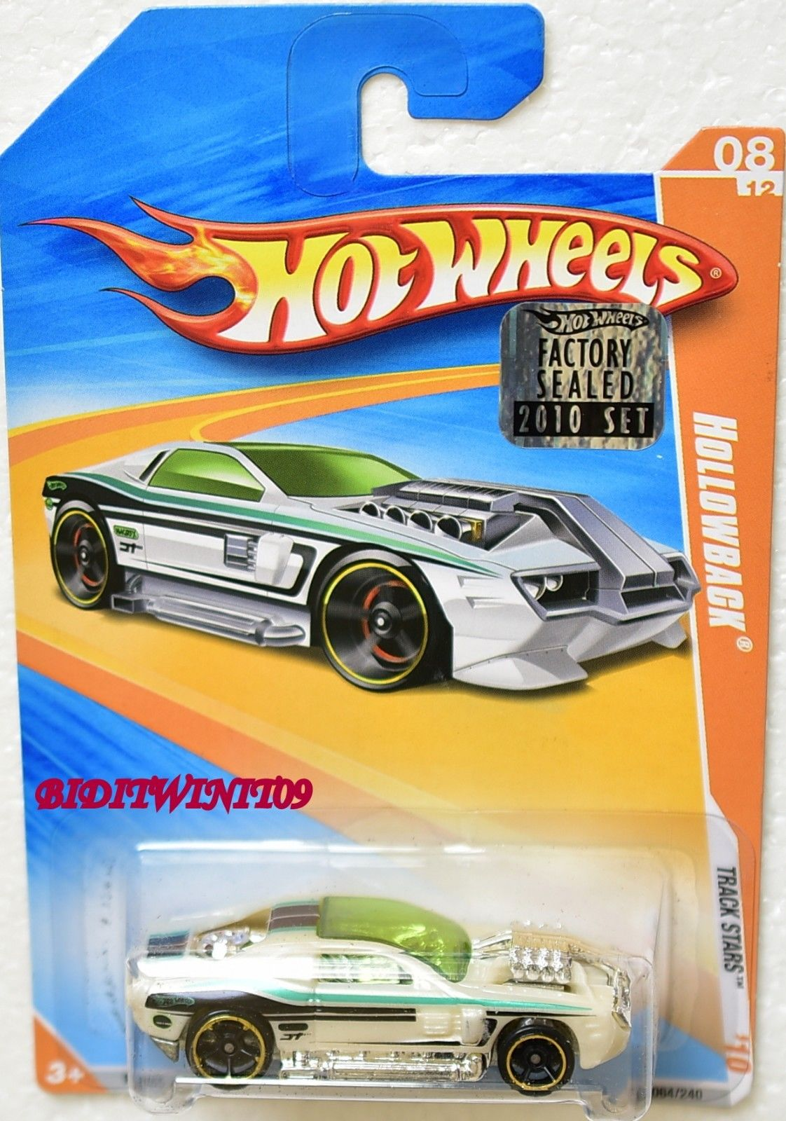 HOT WHEELS 2010 TRACK STARS HOLLOWBACK #08/12 FACTORY SEALED