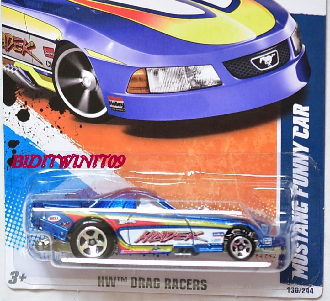 HOT WHEELS 2011 DRAG RACER MUSTANG FUNNY CAR BLUE