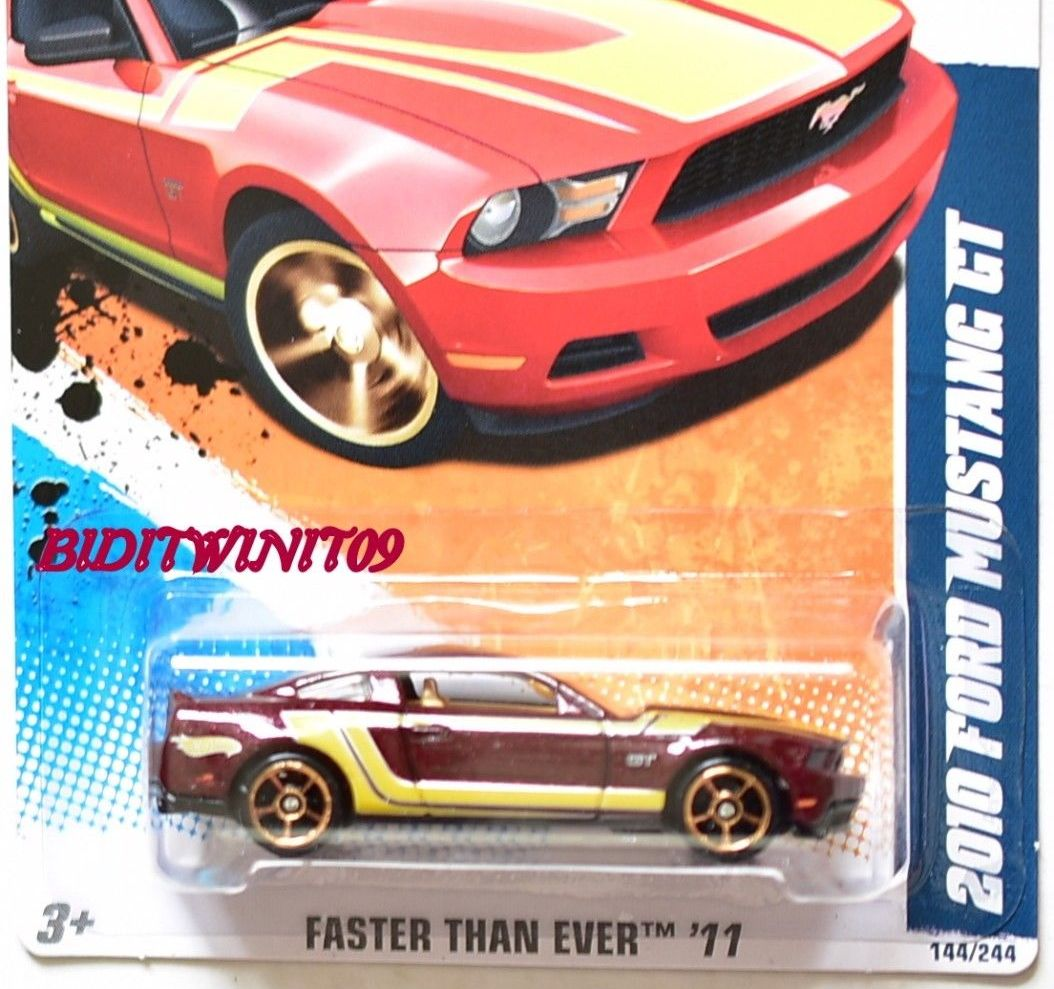 HOT WHEELS 2011 FTE 2010 FORD MUSTANG GT E+ - Click Image to Close