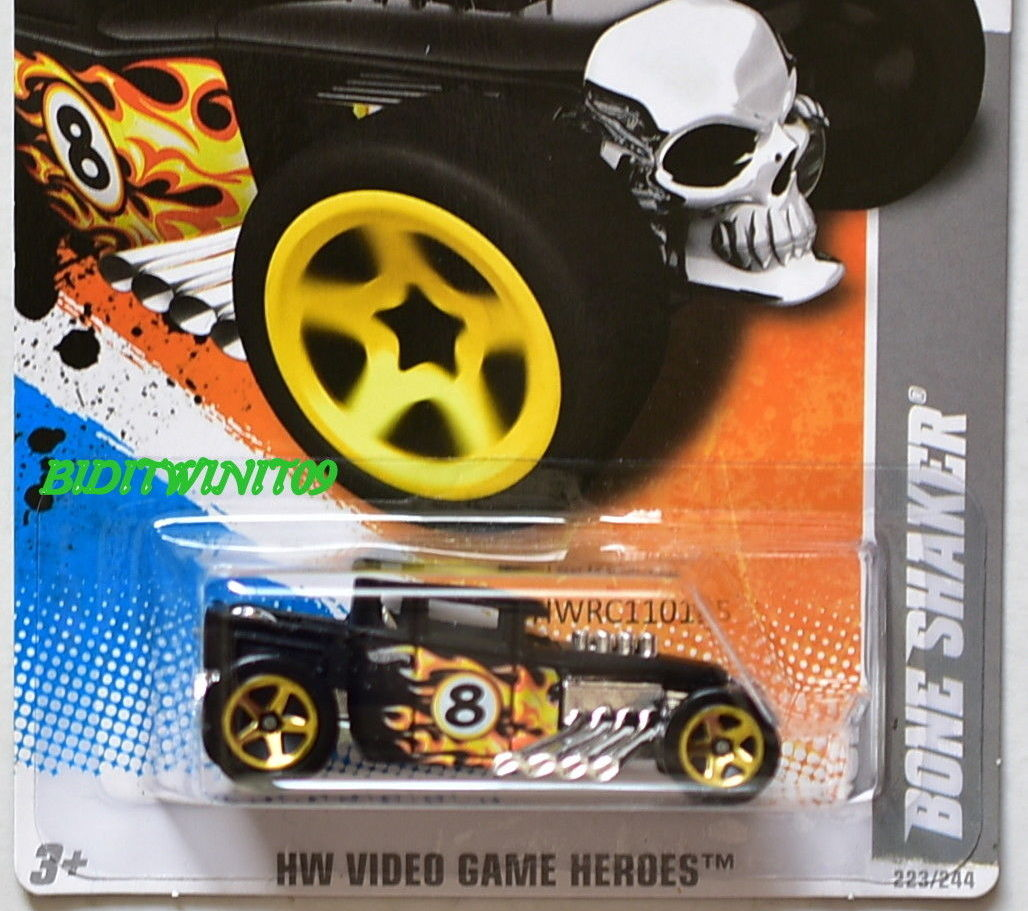 HOT WHEELS 2011 HW VIDEO GAME HEROES BONE SHAKER #1/22 BLACK