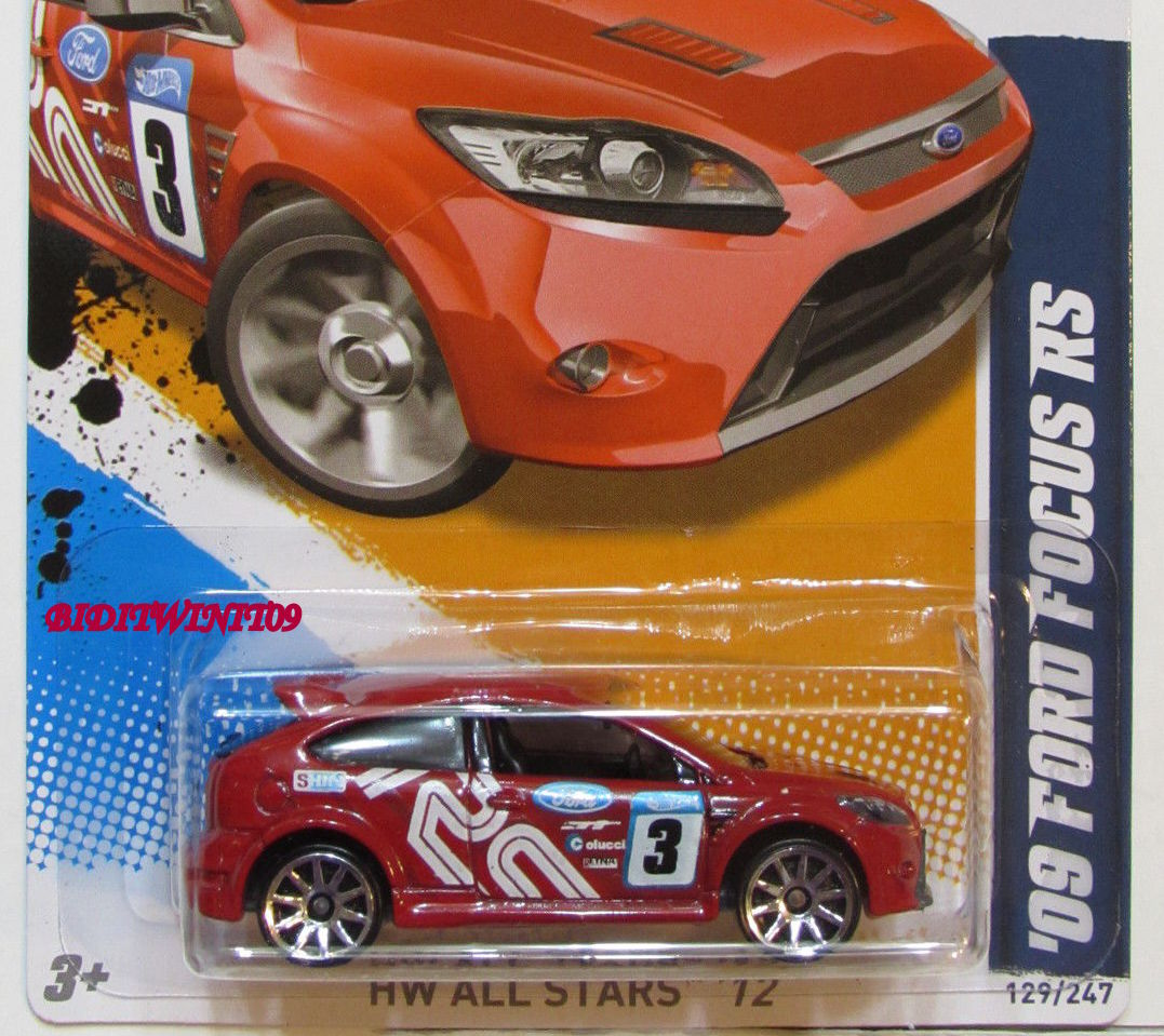 HOT WHEELS 2012 HW ALL STARS 09 FORD FOCUS RS