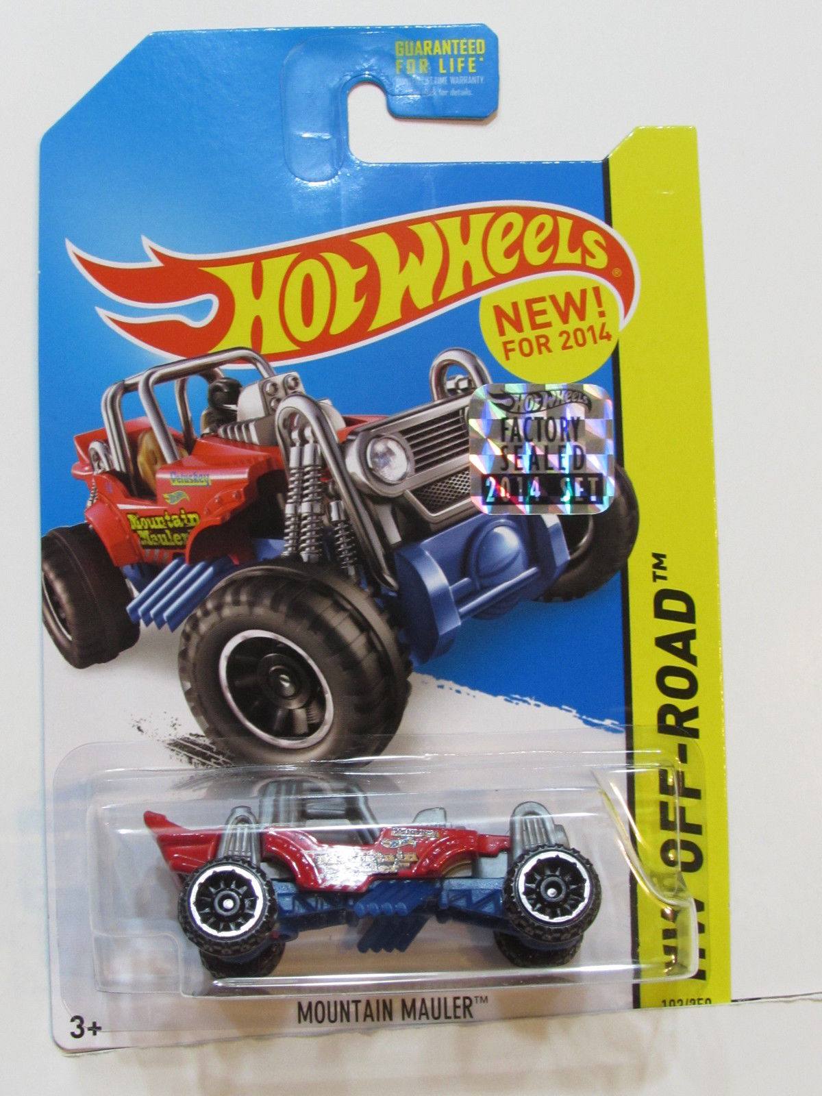 HOT WHEELS 2014 HW OFF ROAD MOUNTAIN MAULER RED FACTORY SEALED