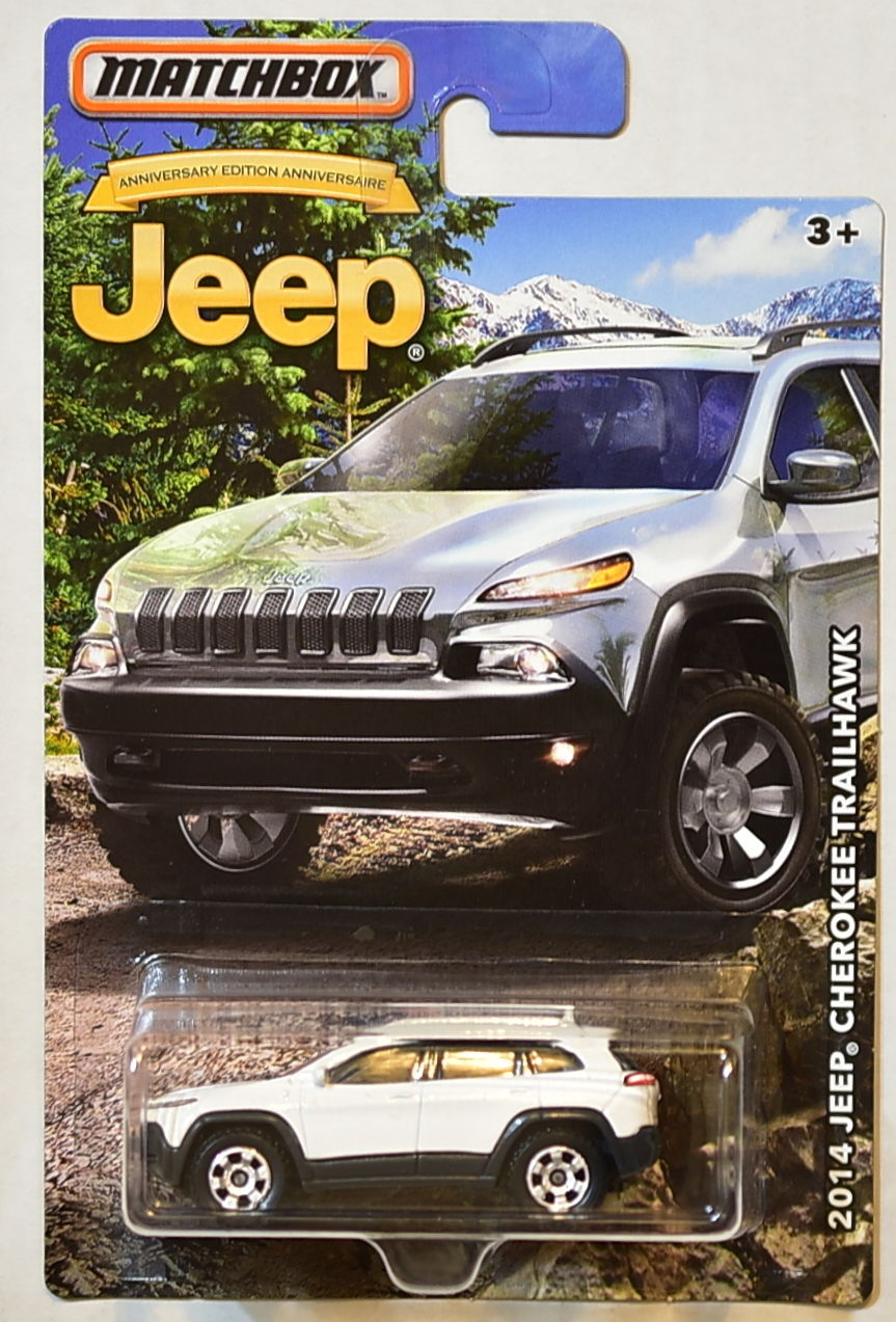 MATCHBOX JEEP 2016 JEEP 2014 JEEP CHEROKEE TRAILHAWK WHITE