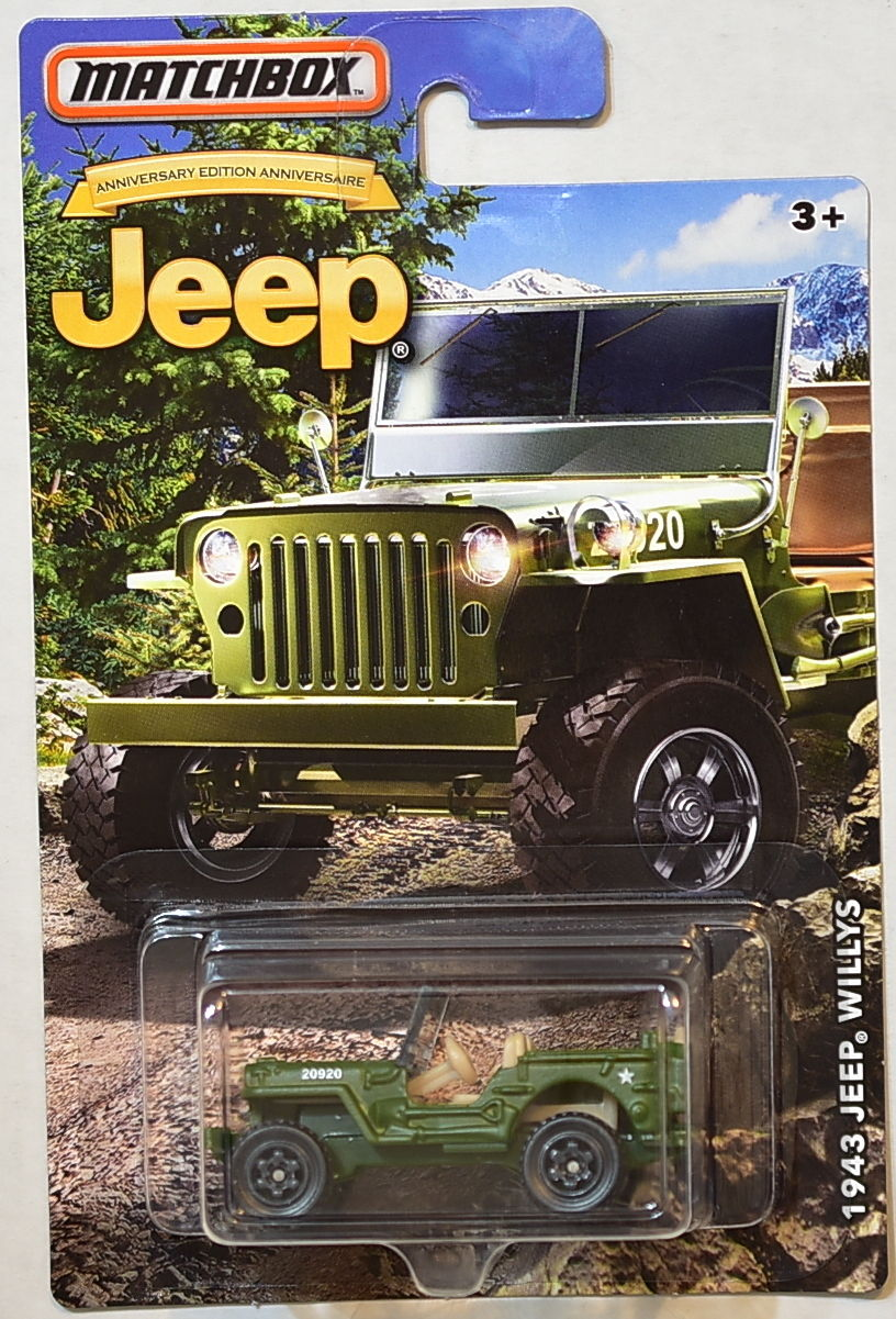 MATCHBOX JEEP 2016 JEEP 1943 JEEP WILLYS