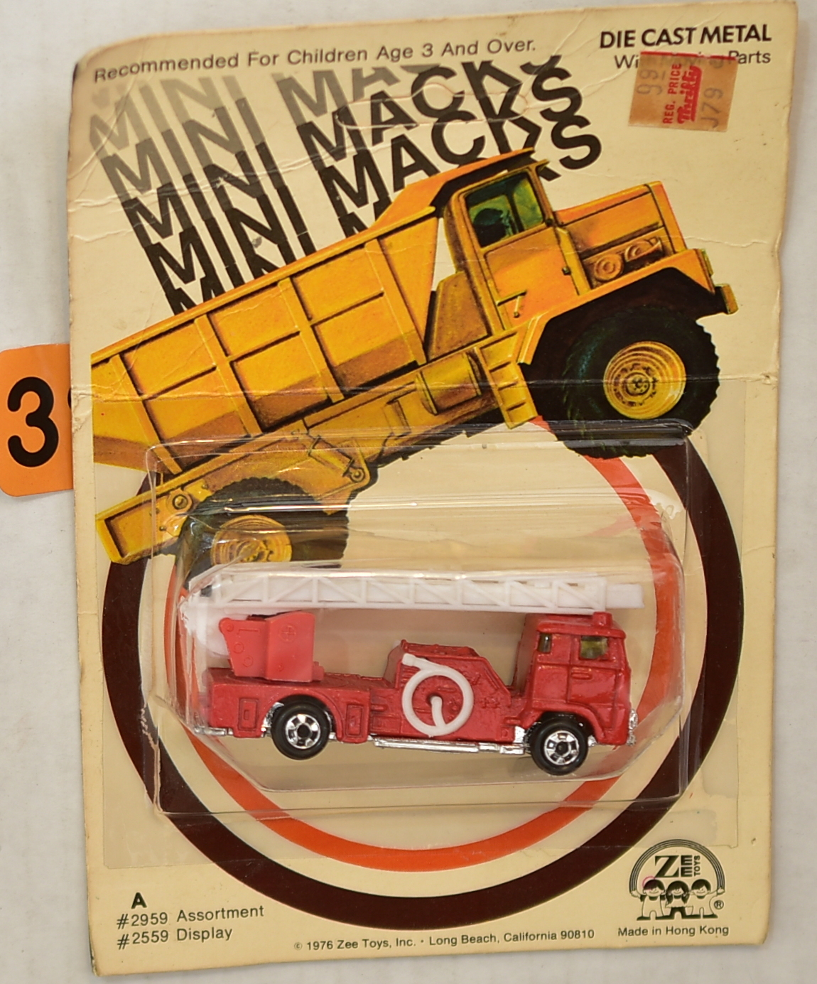 ZEETOYS MINI MACKS FIRE ENGINE