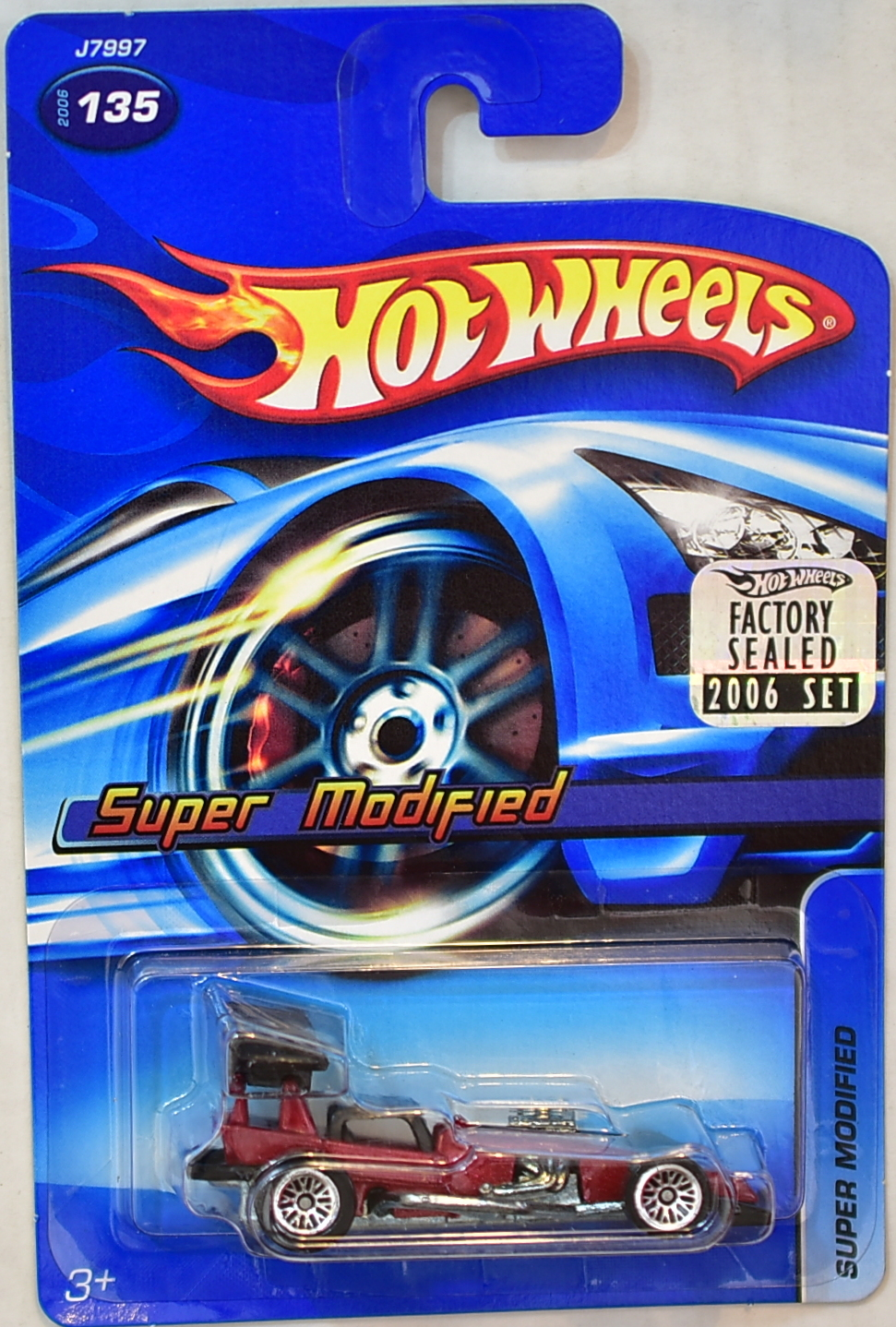 HOT WHEELS 2006 - SUPER MODIFIED #135 RED FACTORY SEALED