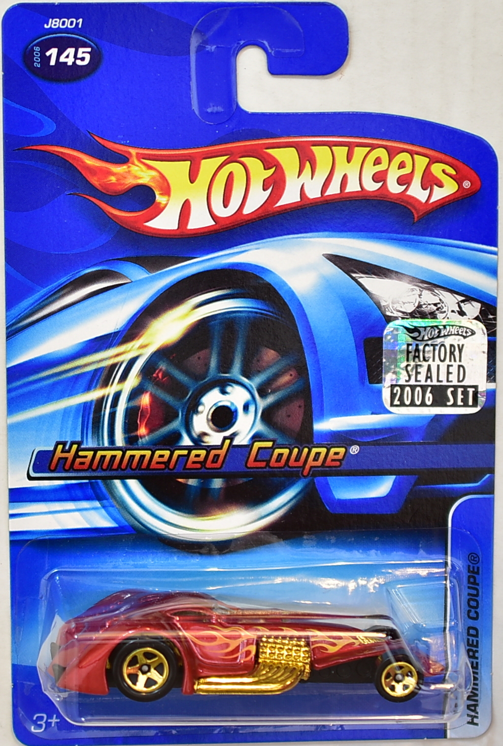 HOT WHEELS 2006 HAMMERED COUPE #145 RED FACTORY SEALED