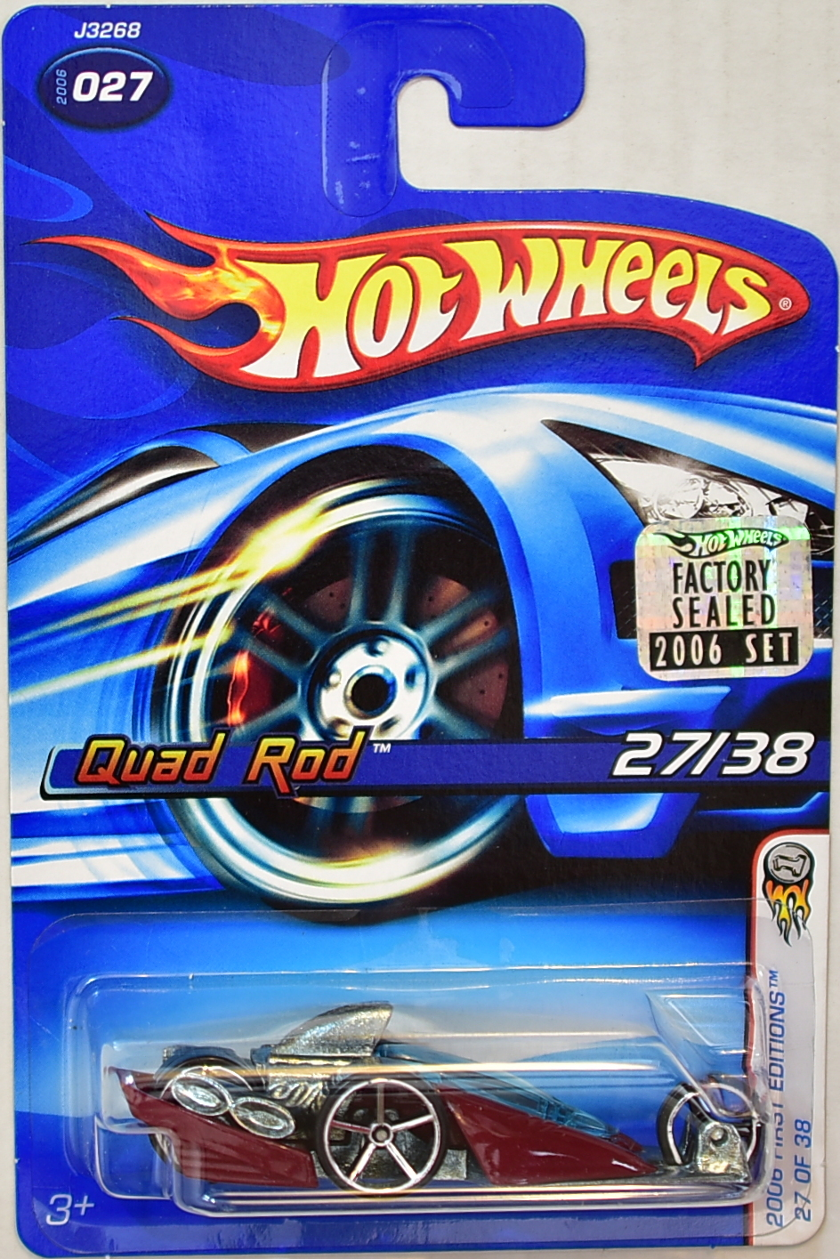 HOT WHEELS 2006 QUAD ROD #027 FIRST EDITIONS 27/38 FACTORY SEALED