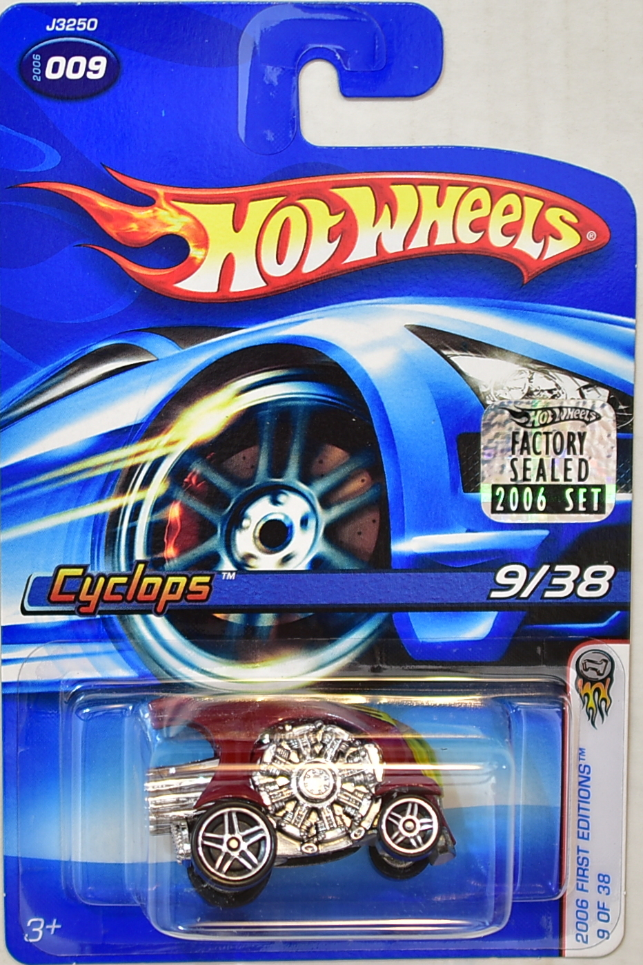 HOT WHEELS 2006 FIRST EDITIONS 9/38 CYCLOPS #009 FACTORY SEALED