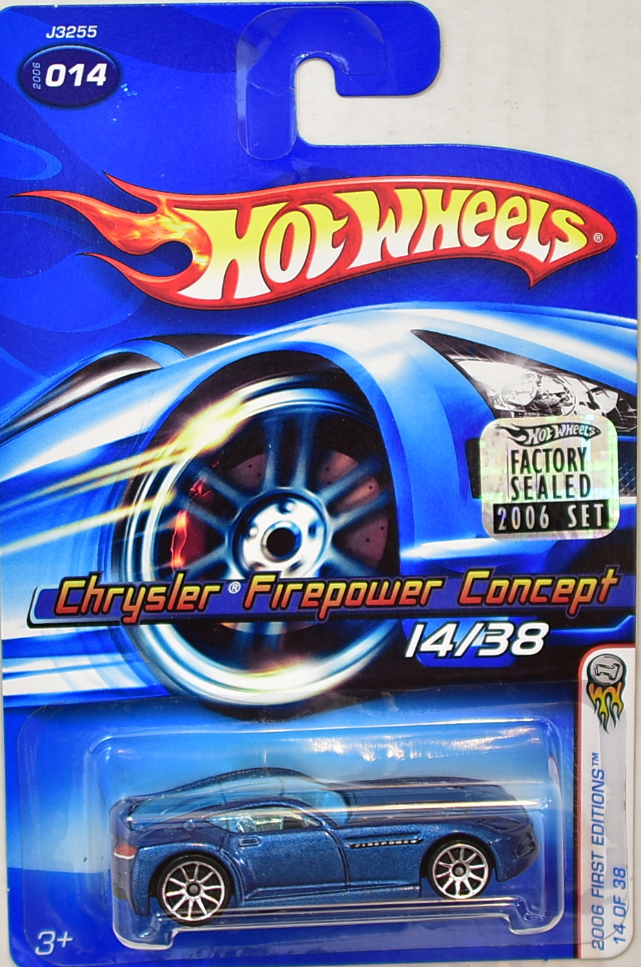 HOT WHEELS 2006 CHRYSLER FIREPOWER CONCEPT #014 BLUE FACTORY SEALED