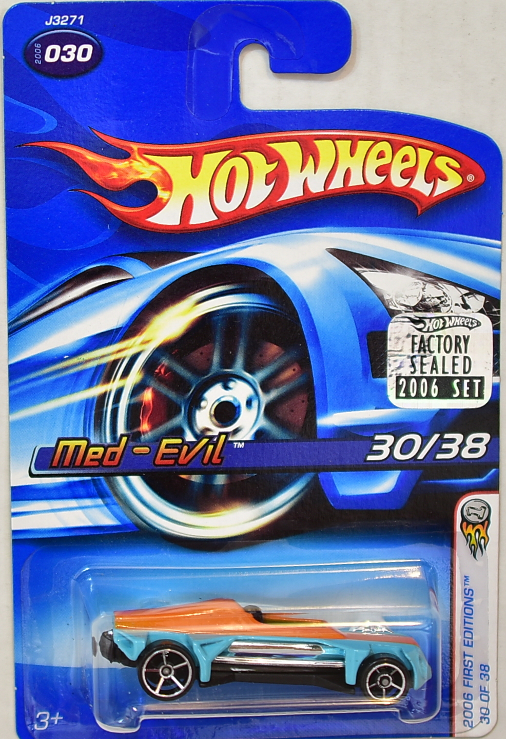 HOT WHEELS 2006 FIRST EDITIONS MED - EVIL #030 FACTORY SEALED