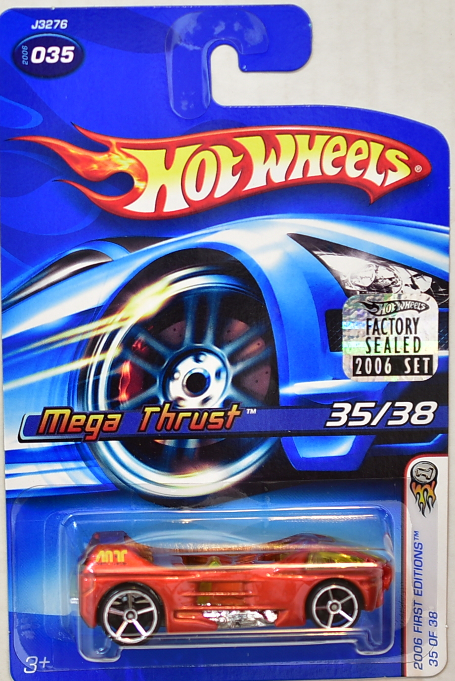 HOT WHEELS 2006 FIRST EDITIONS MEGA THRUST #035 FACTORY SEALED