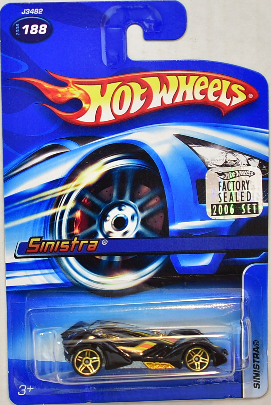 HOT WHEELS 2006 SINISTRA #188 FACTORY SEALED