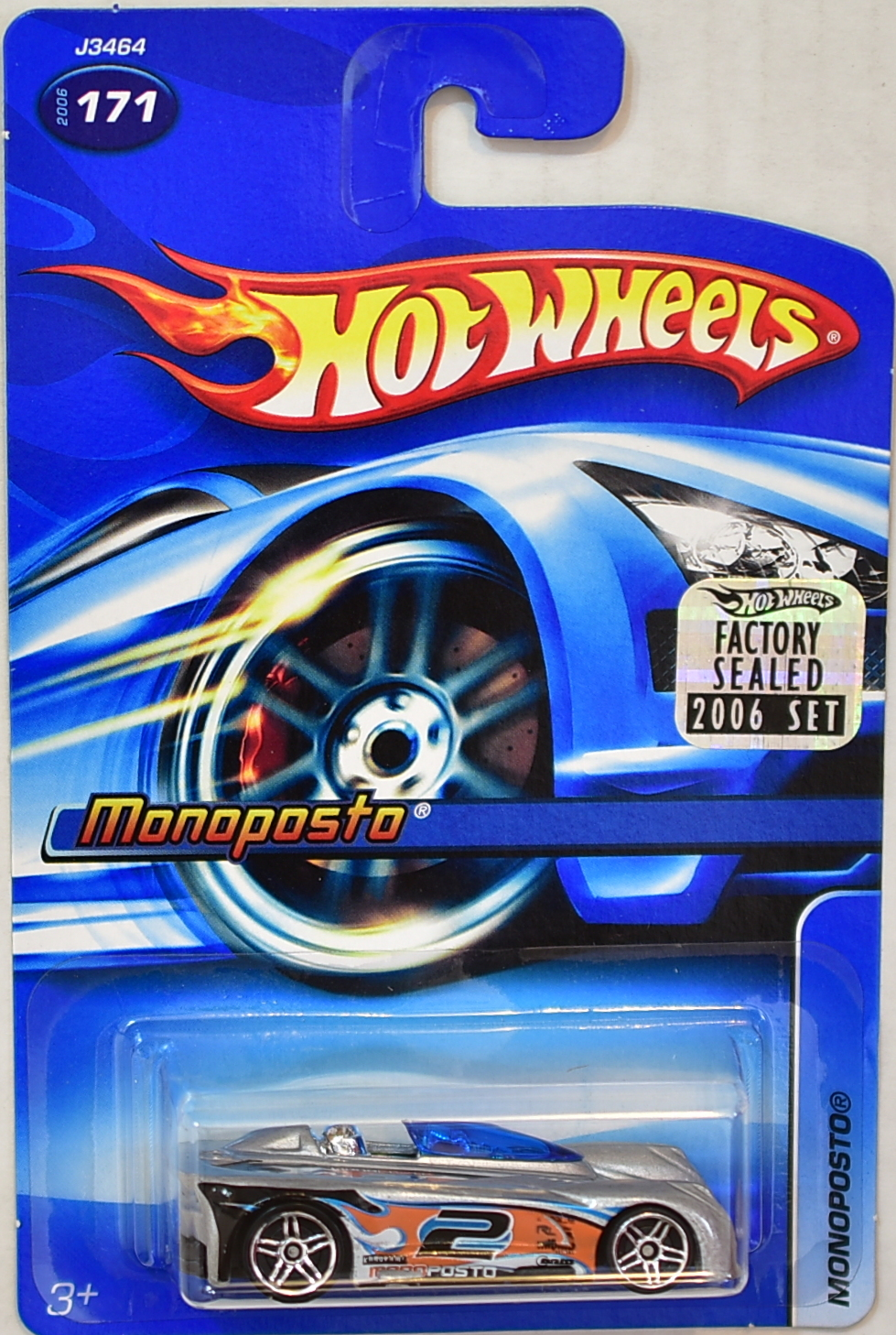 HOT WHEELS 2006 MONOPOSTO #171 SILVER FACTORY SEALED