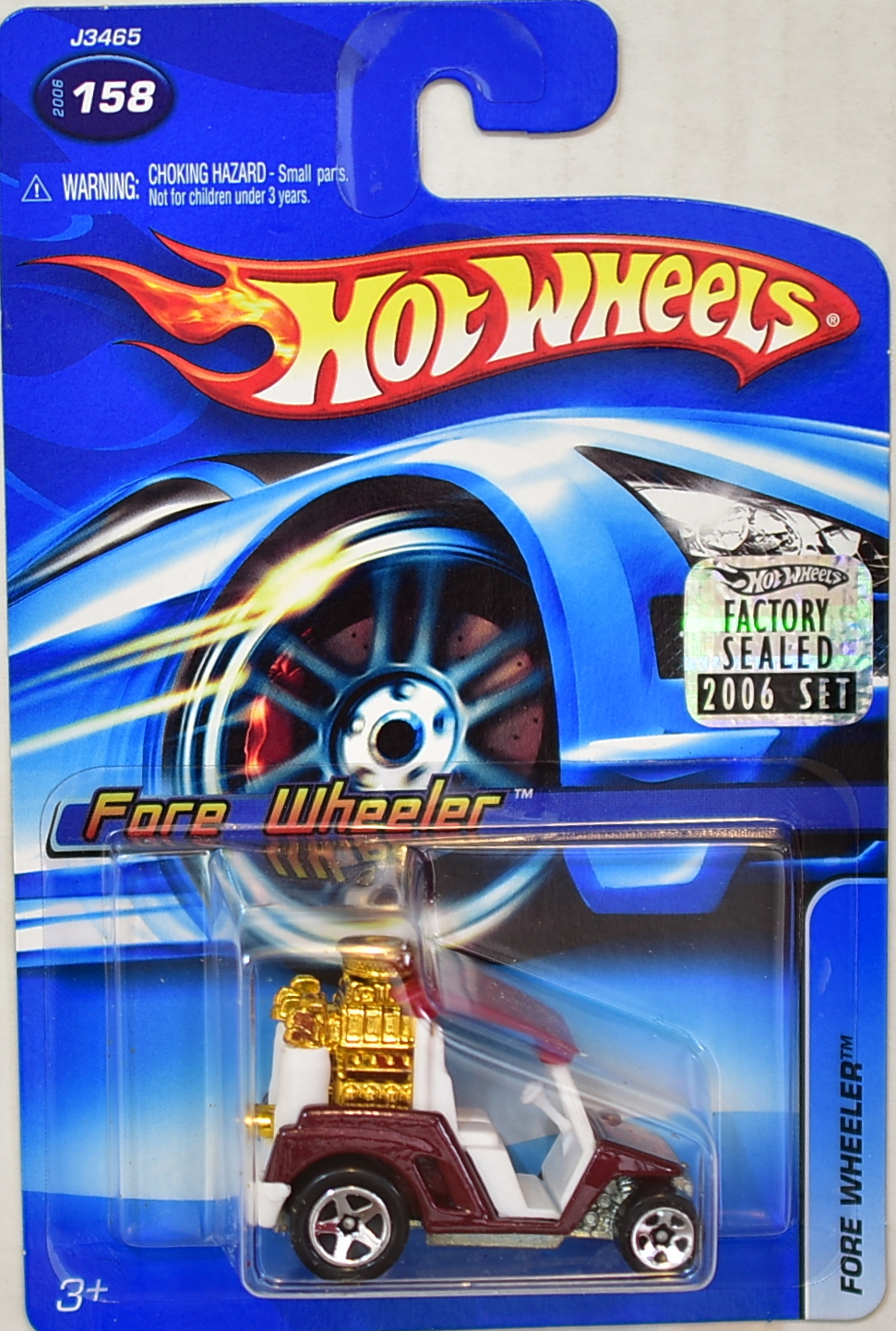 HOT WHEELS 2006 FORE WHEELER #158 RED FACTORY SEALED
