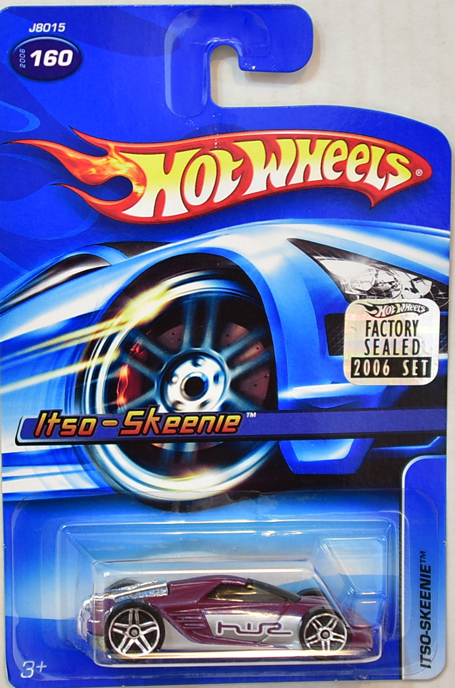 HOT WHEELS 2006 ITSO-SKEENIE #160 RED FACTORY SEALED
