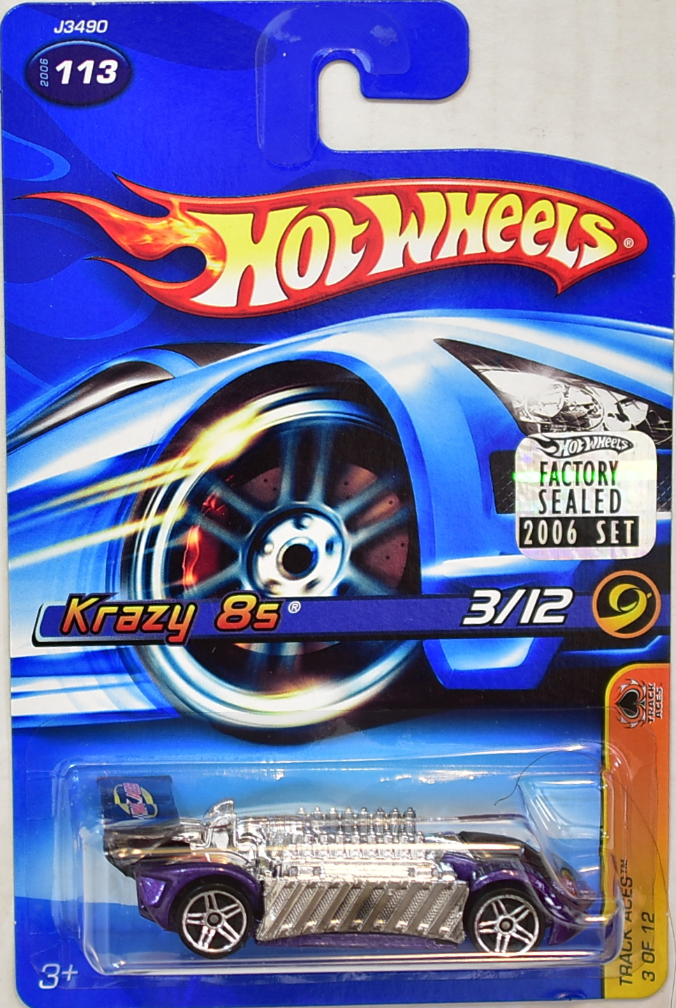 HOT WHEELS 2006 TRACK ACES KRAZY 8S #113 PURPLE FACTORY SEALED
