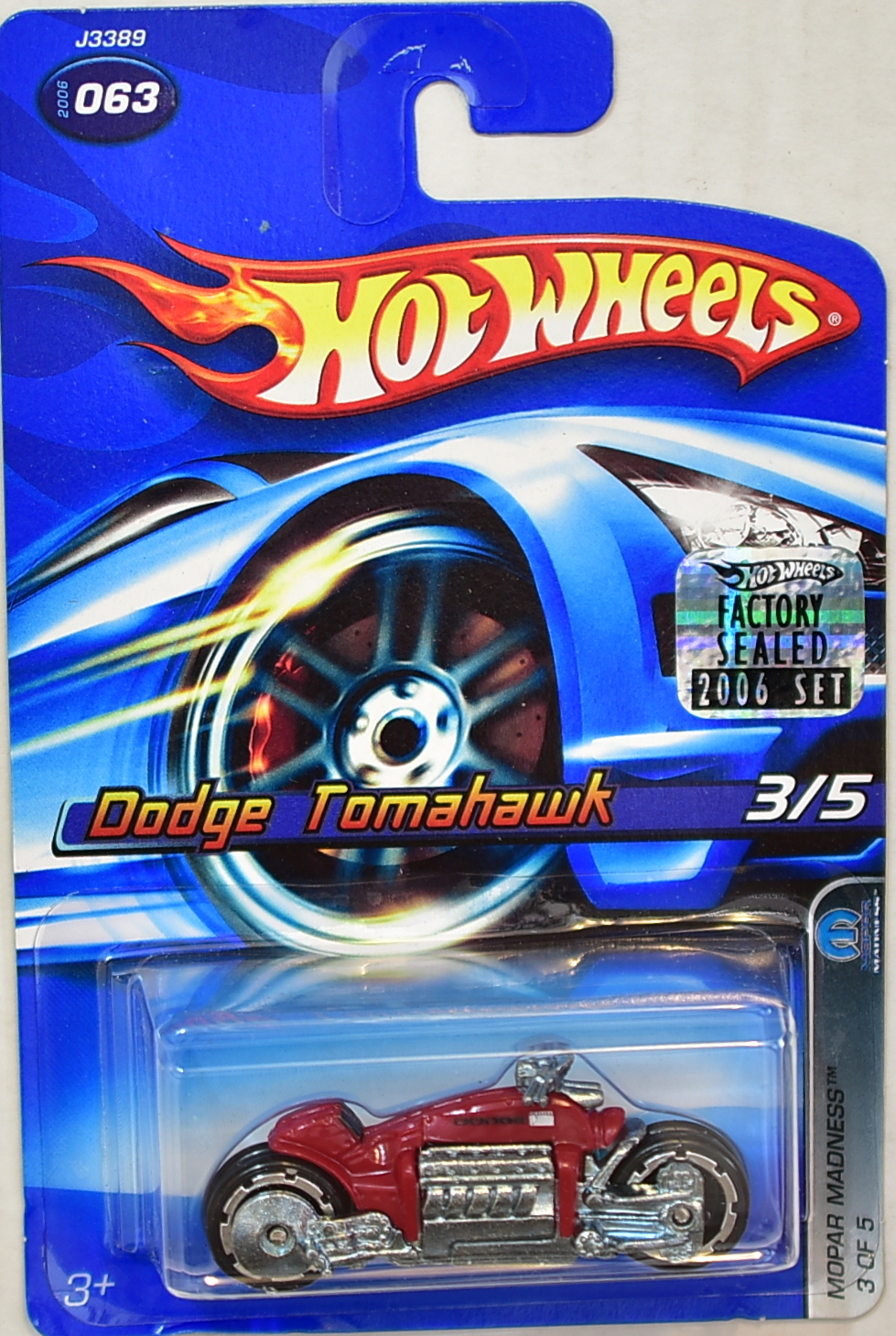 HOT WHEELS 2006 MOPAR MADNESS DODGE TOMAHAWK #063 RED FACTORY SEALED